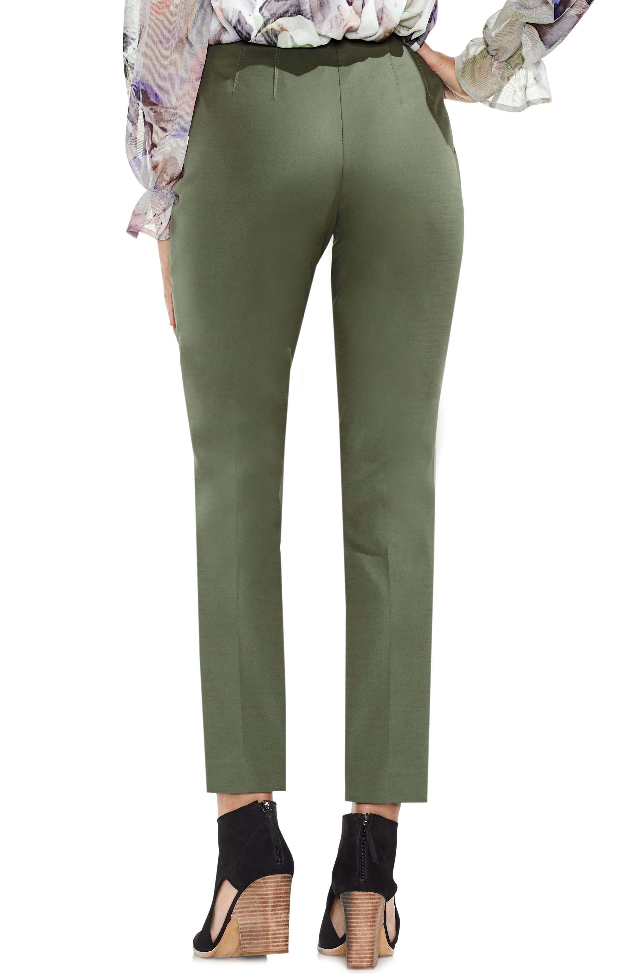 Side Zip Double Weave Pants,                             Alternate thumbnail 21, color,
