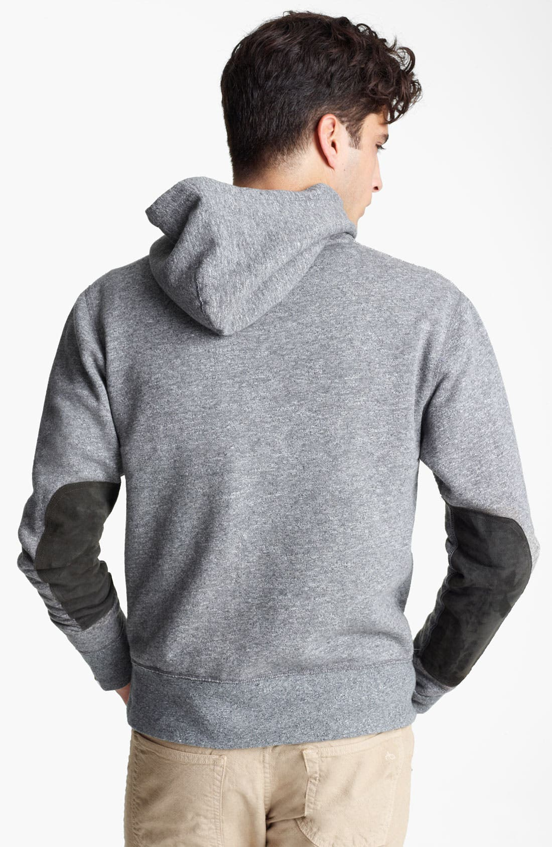 Elbow Patch Hoodie,                             Alternate thumbnail 3, color,                             020