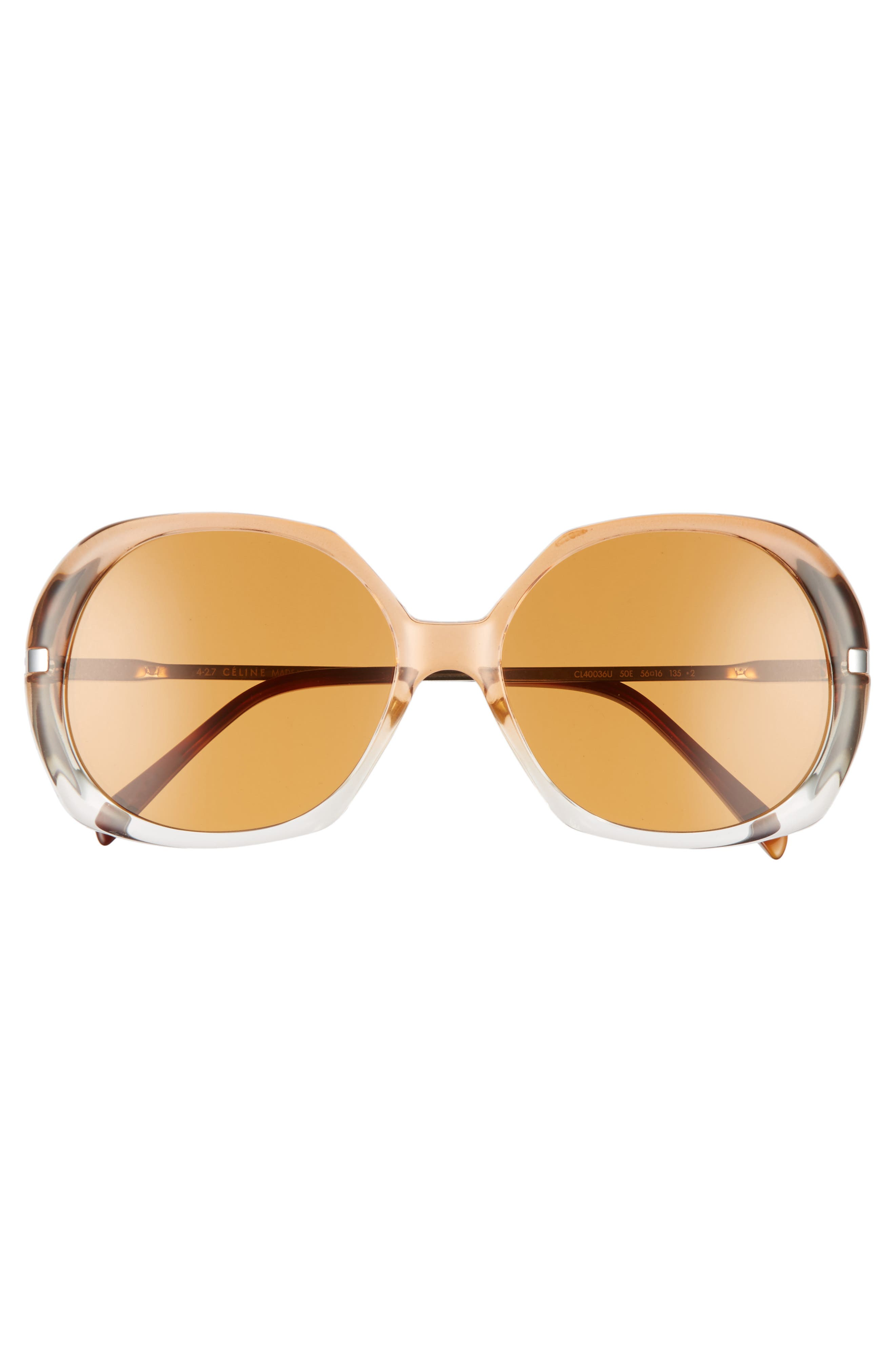 56mm Round Sunglasses,                             Alternate thumbnail 3, color,                             200