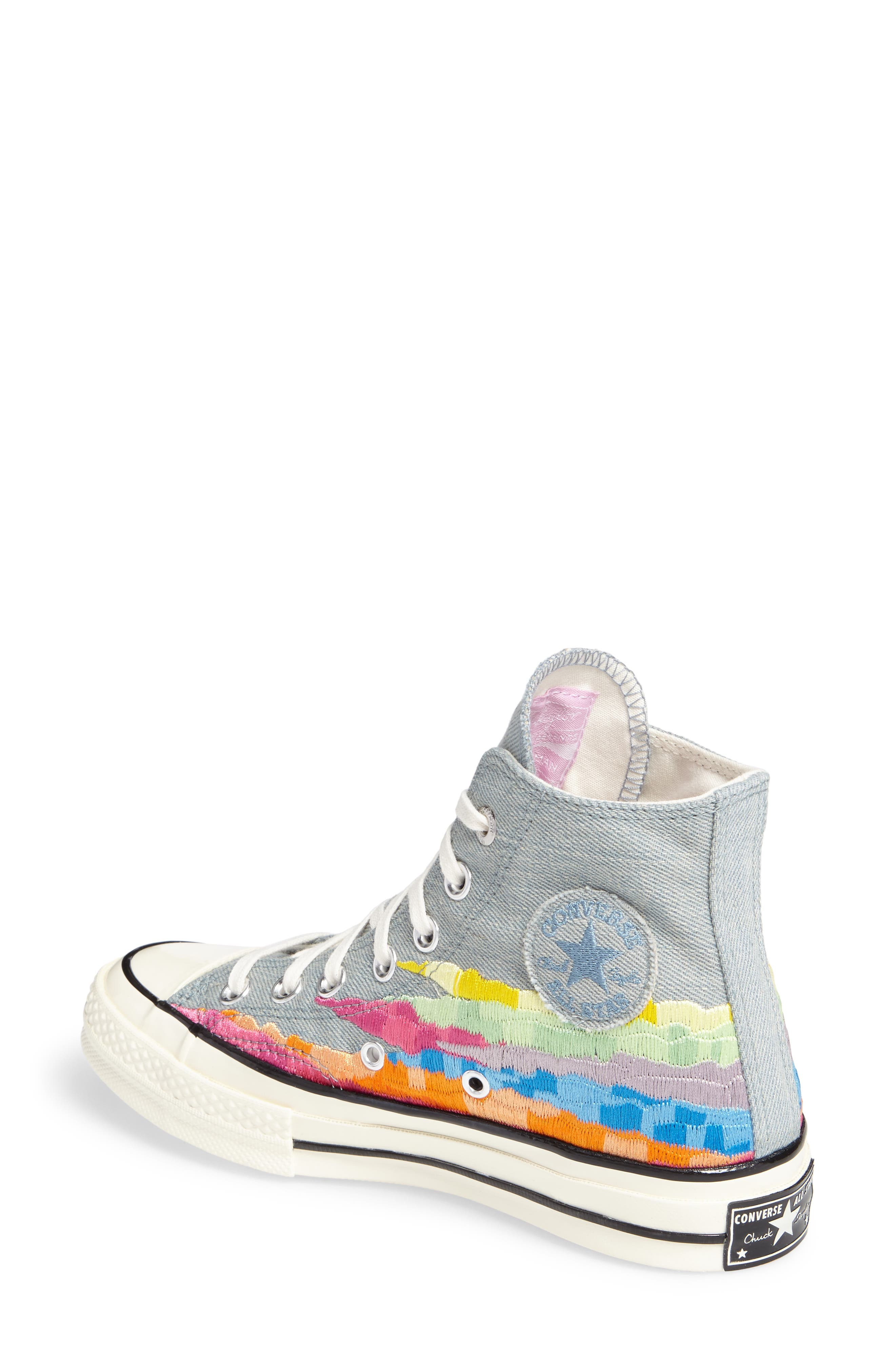 x Mara Hoffman All Star<sup>®</sup> Embroidered High Top Sneaker,                             Alternate thumbnail 4, color,