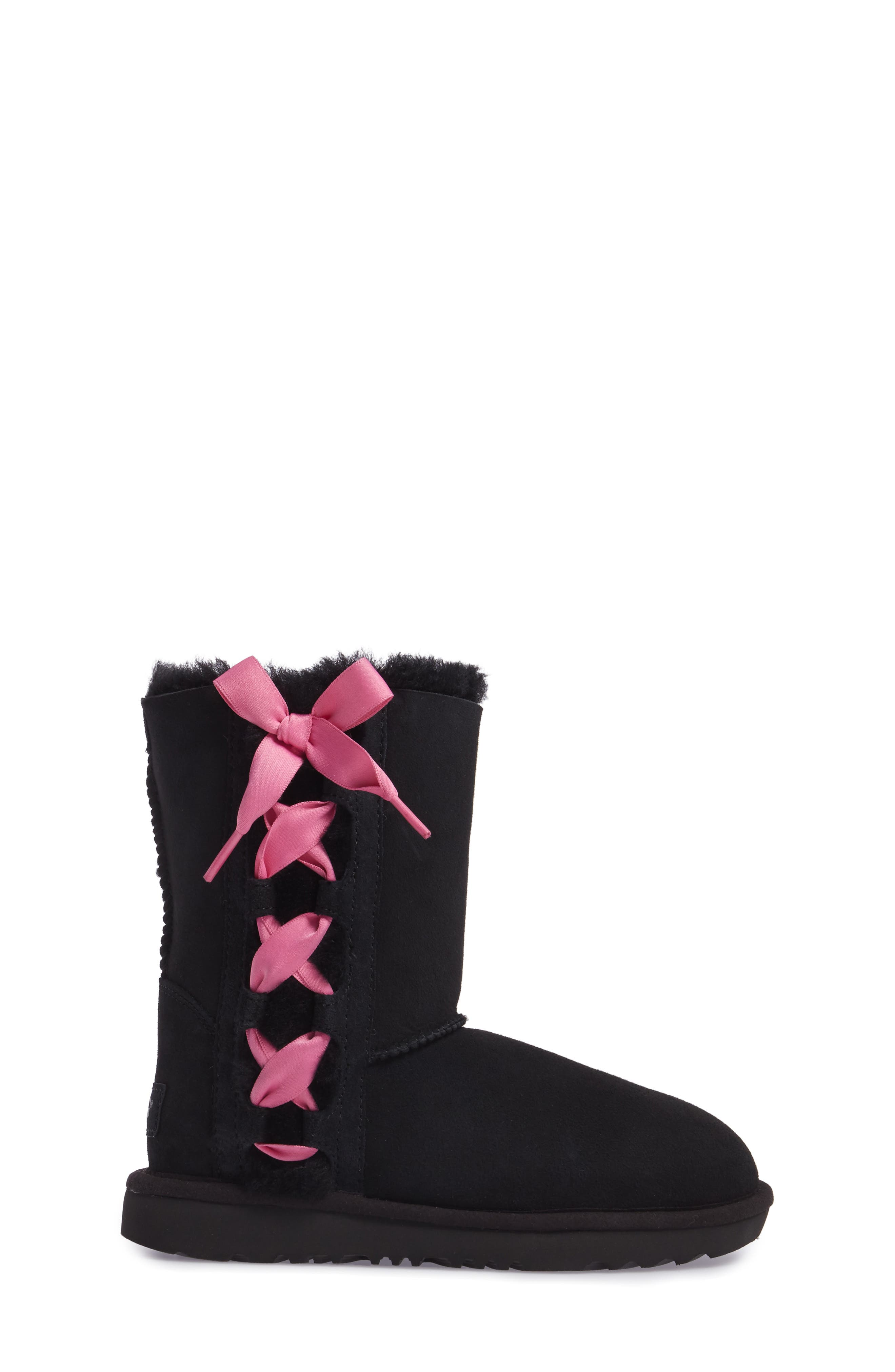 Pala Water-Resistant Genuine Shearling Boot,                             Alternate thumbnail 3, color,                             BLACK