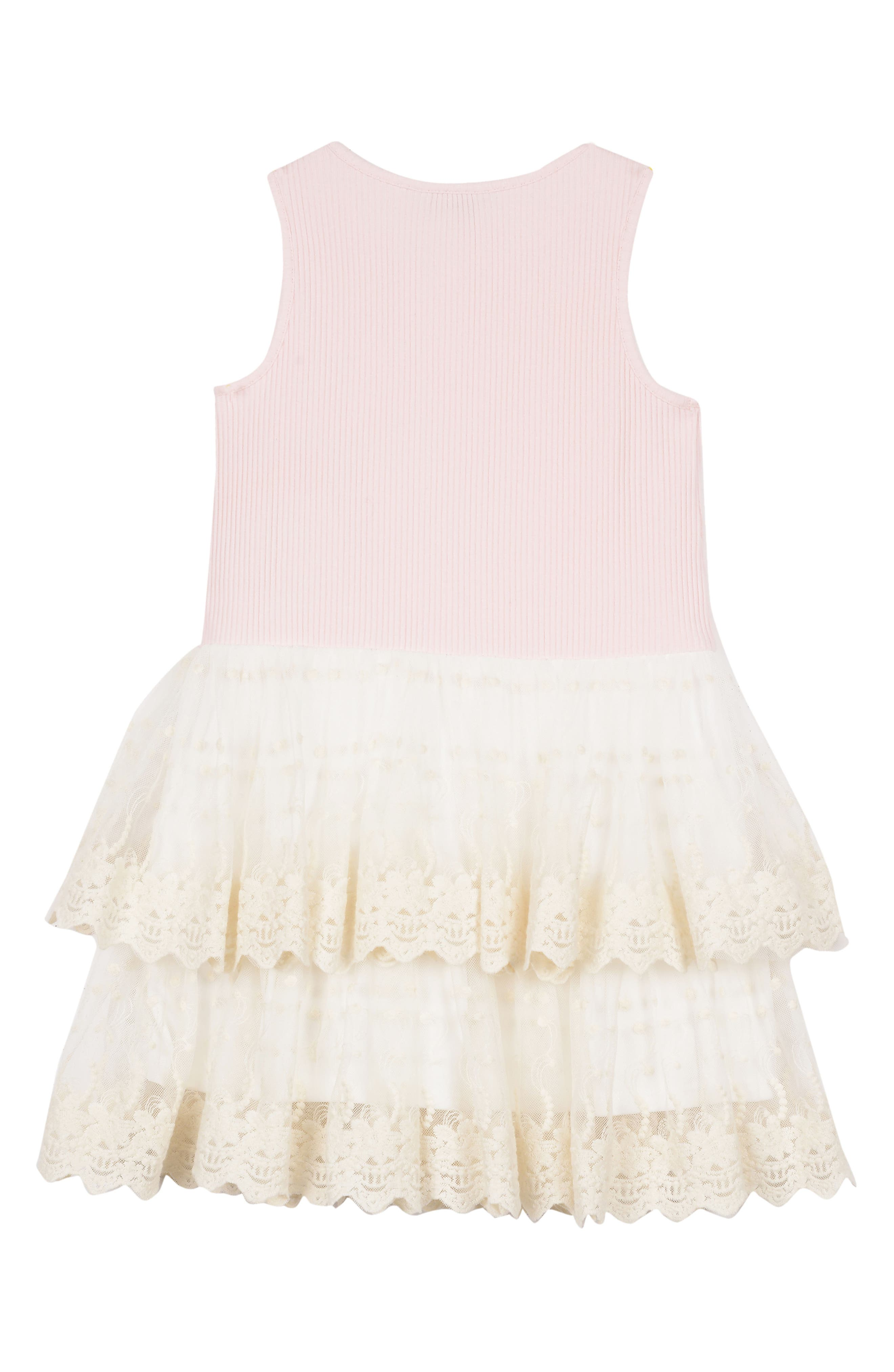 Tiered Dress,                             Alternate thumbnail 2, color,                             PINK