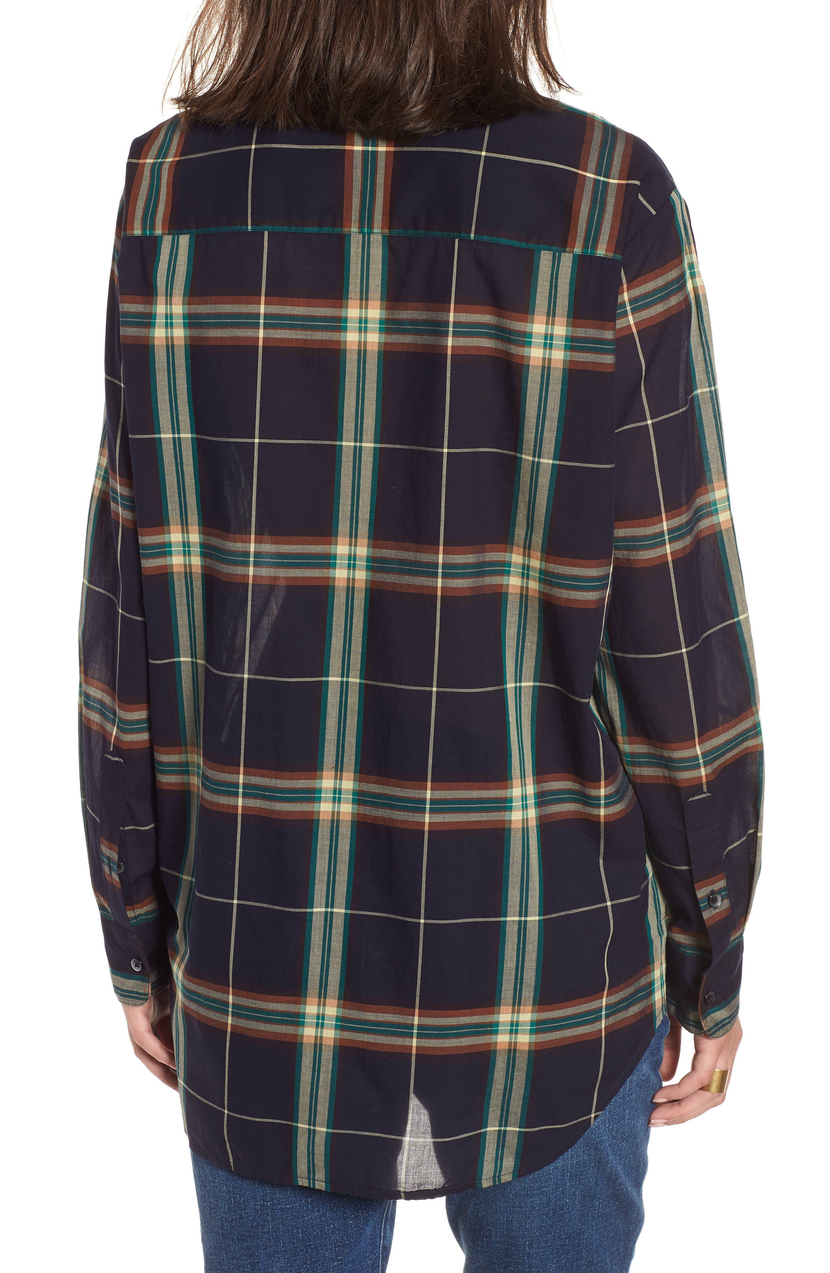 Oversize Ex-Boyfriend Plaid Shirt,                             Alternate thumbnail 2, color,                             300