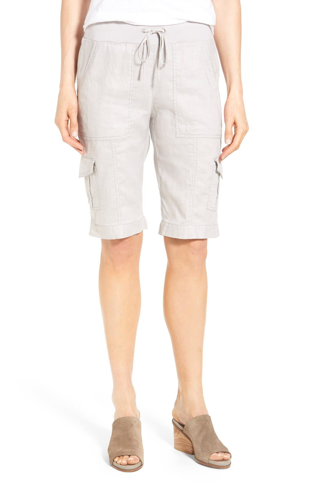 Drawstring Waist Bermuda Cargo Shorts,                         Main,                         color, 041