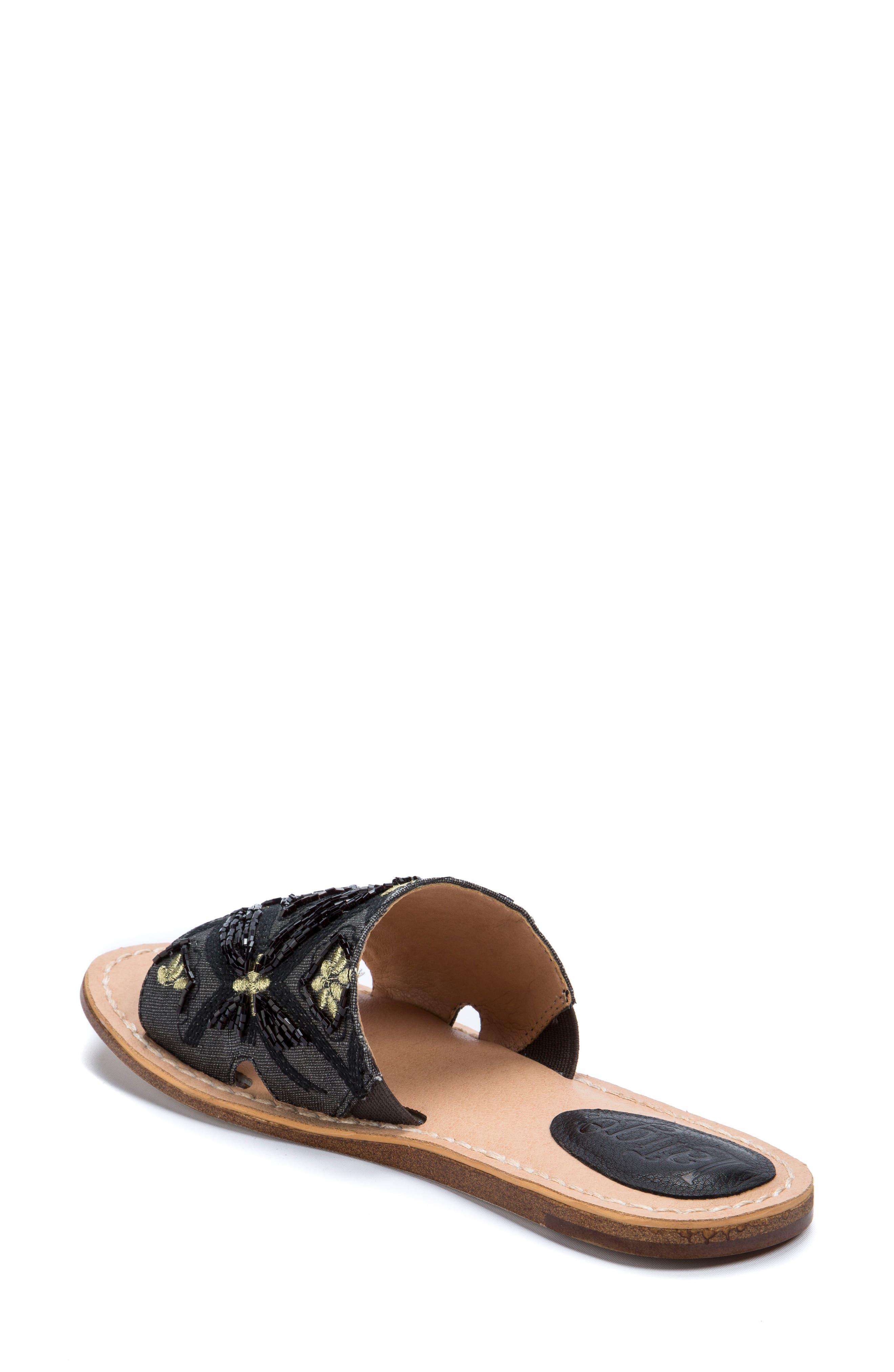 Vella Embellished Slide Sandal,                             Alternate thumbnail 2, color,                             001