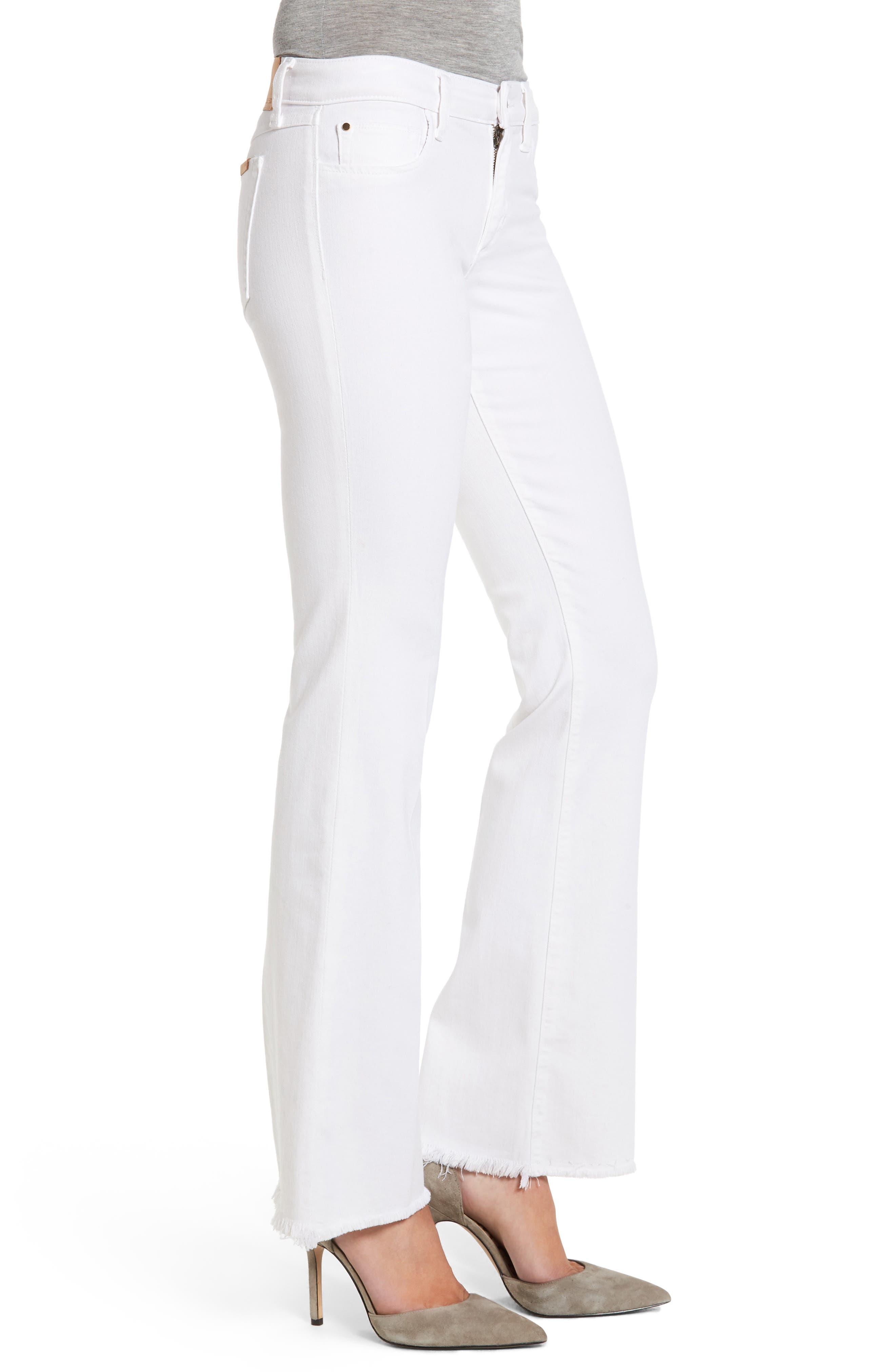 The Provocateur Raw Hem Bootcut Jeans,                             Alternate thumbnail 3, color,                             HENNIE