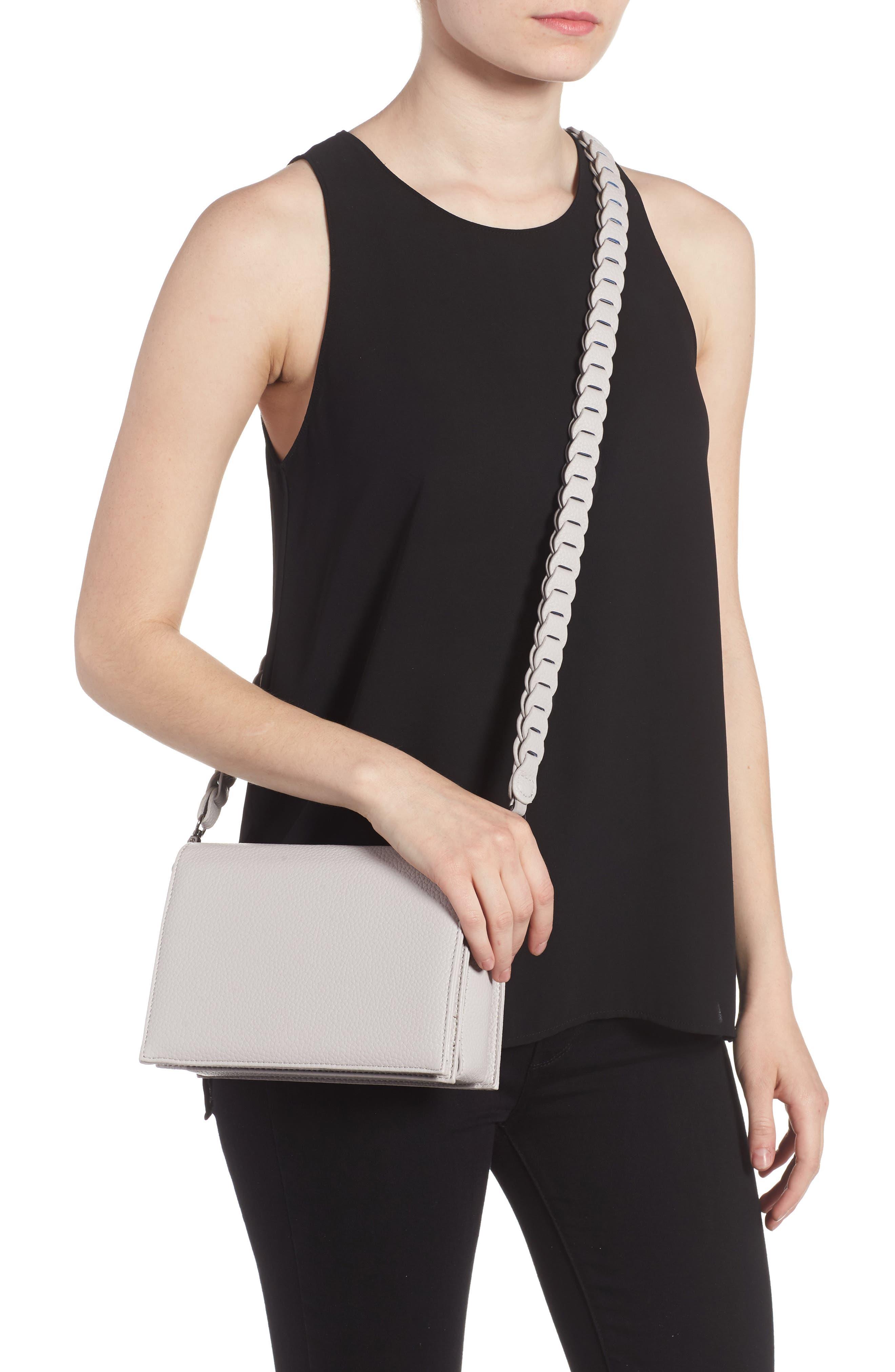Braided Handle Crossbody Bag,                             Alternate thumbnail 2, color,                             020