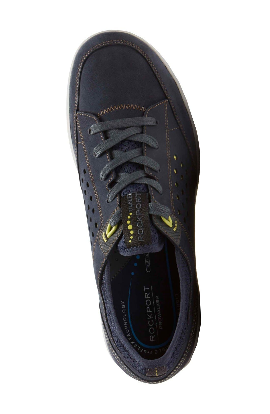 Truflex Sneaker,                             Alternate thumbnail 5, color,                             NEW DRESS BLUES NUBUCK