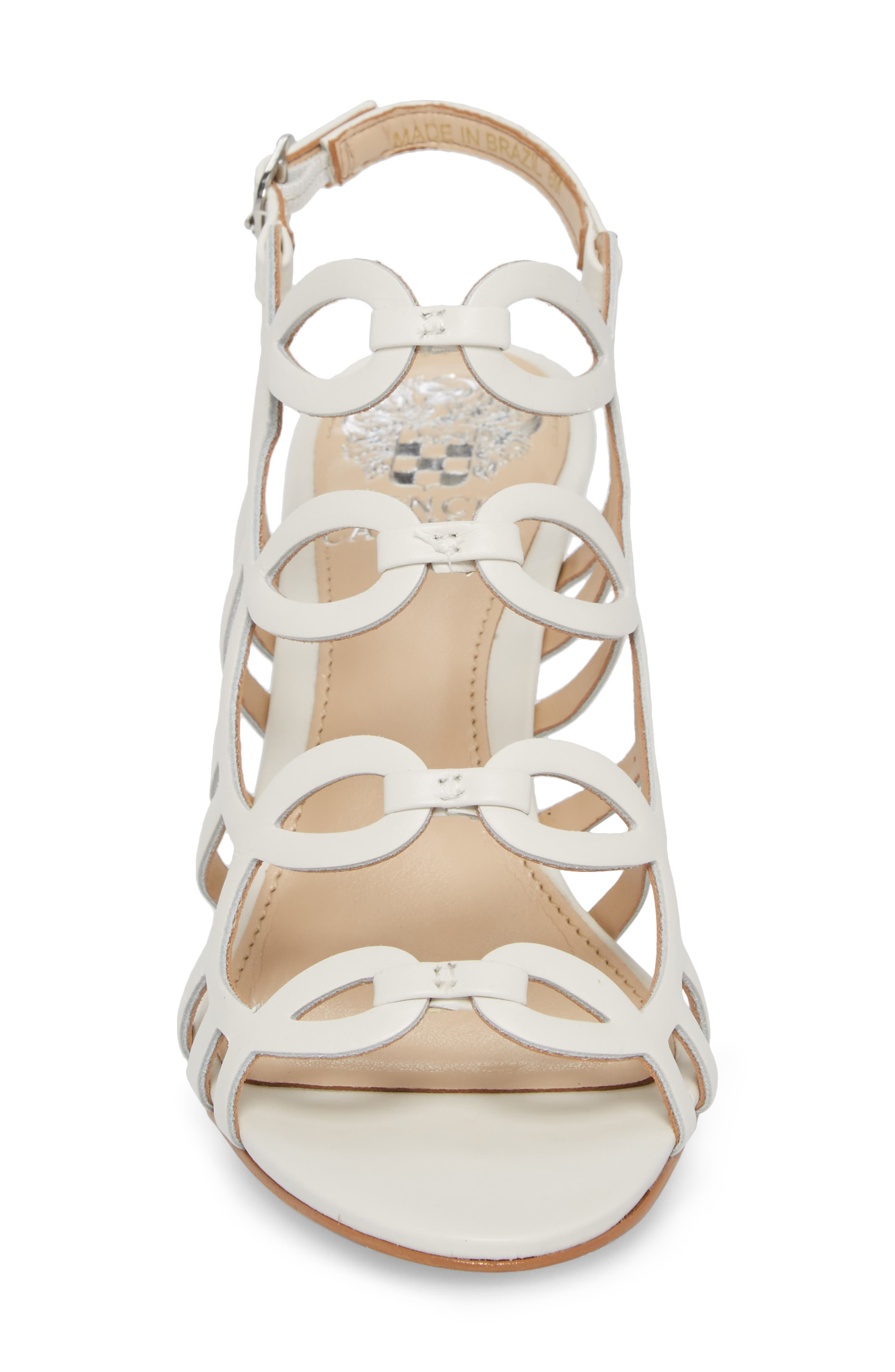 Petina Sandal,                             Alternate thumbnail 4, color,                             WHITE LEATHER