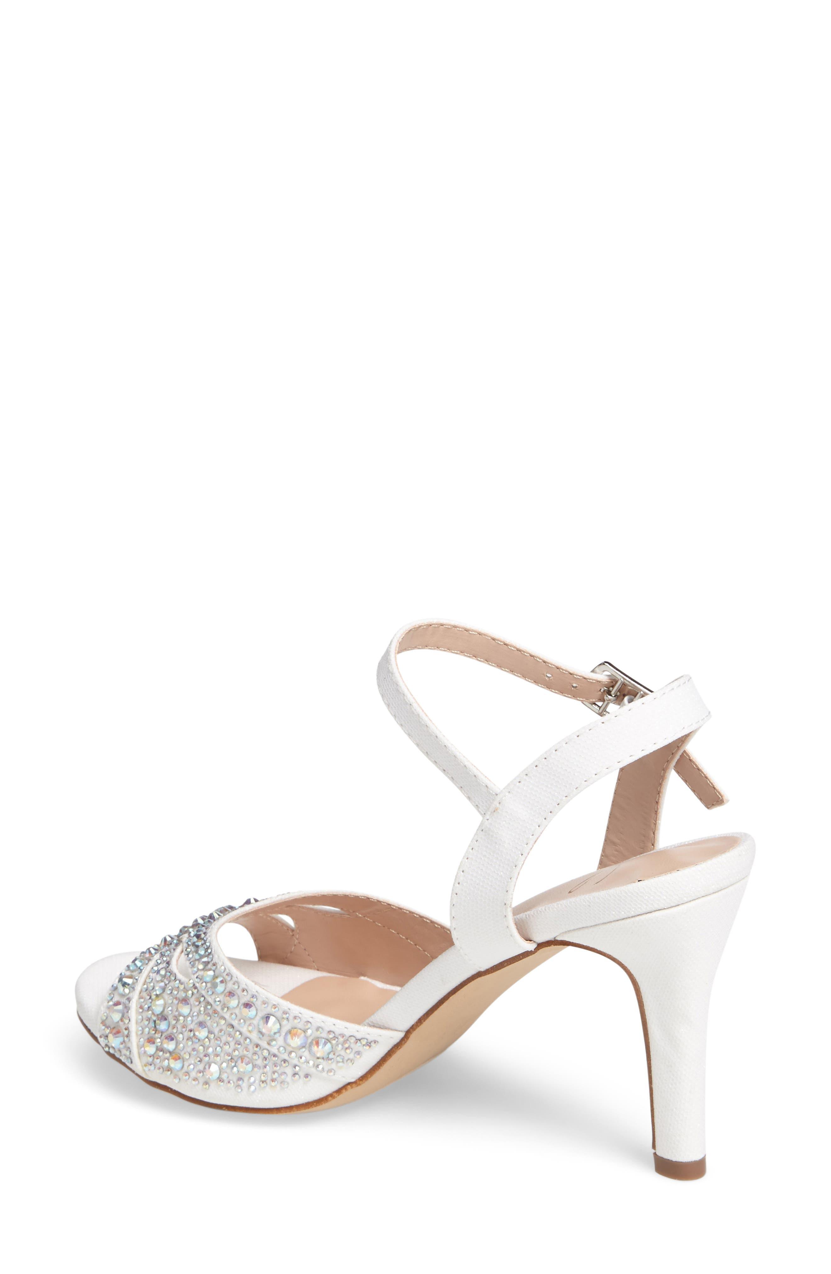 Florence Crystal Embellished Sandal,                             Alternate thumbnail 4, color,