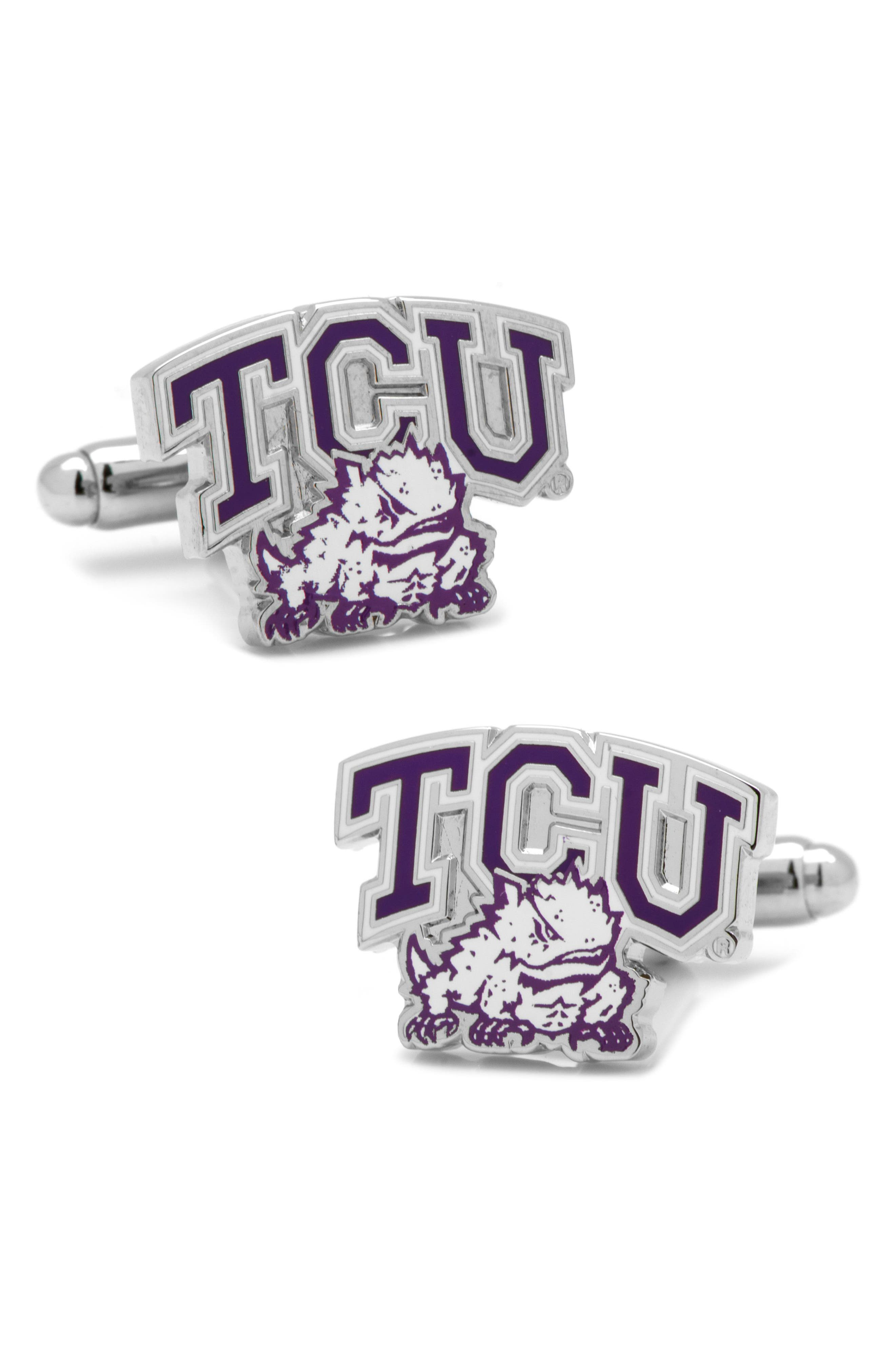 TCU Horned Frogs Cuff Links,                             Main thumbnail 1, color,                             PURPLE