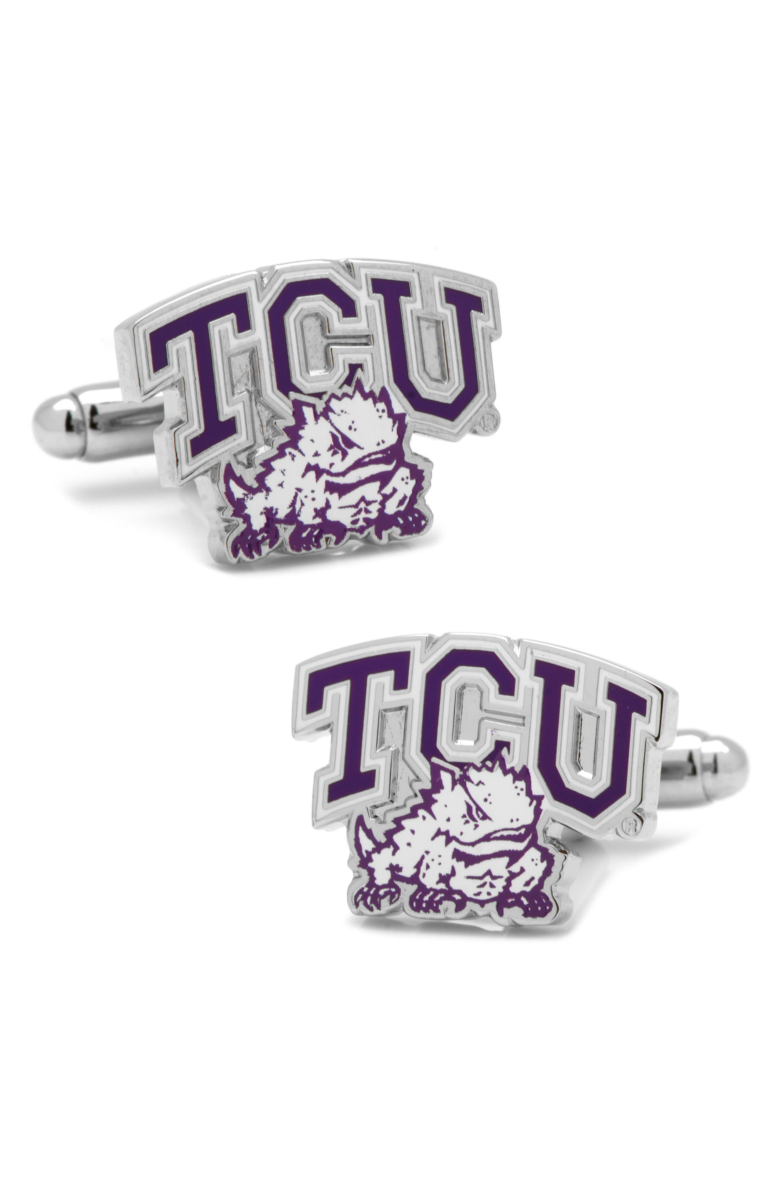 TCU Horned Frogs Cuff Links,                         Main,                         color, PURPLE