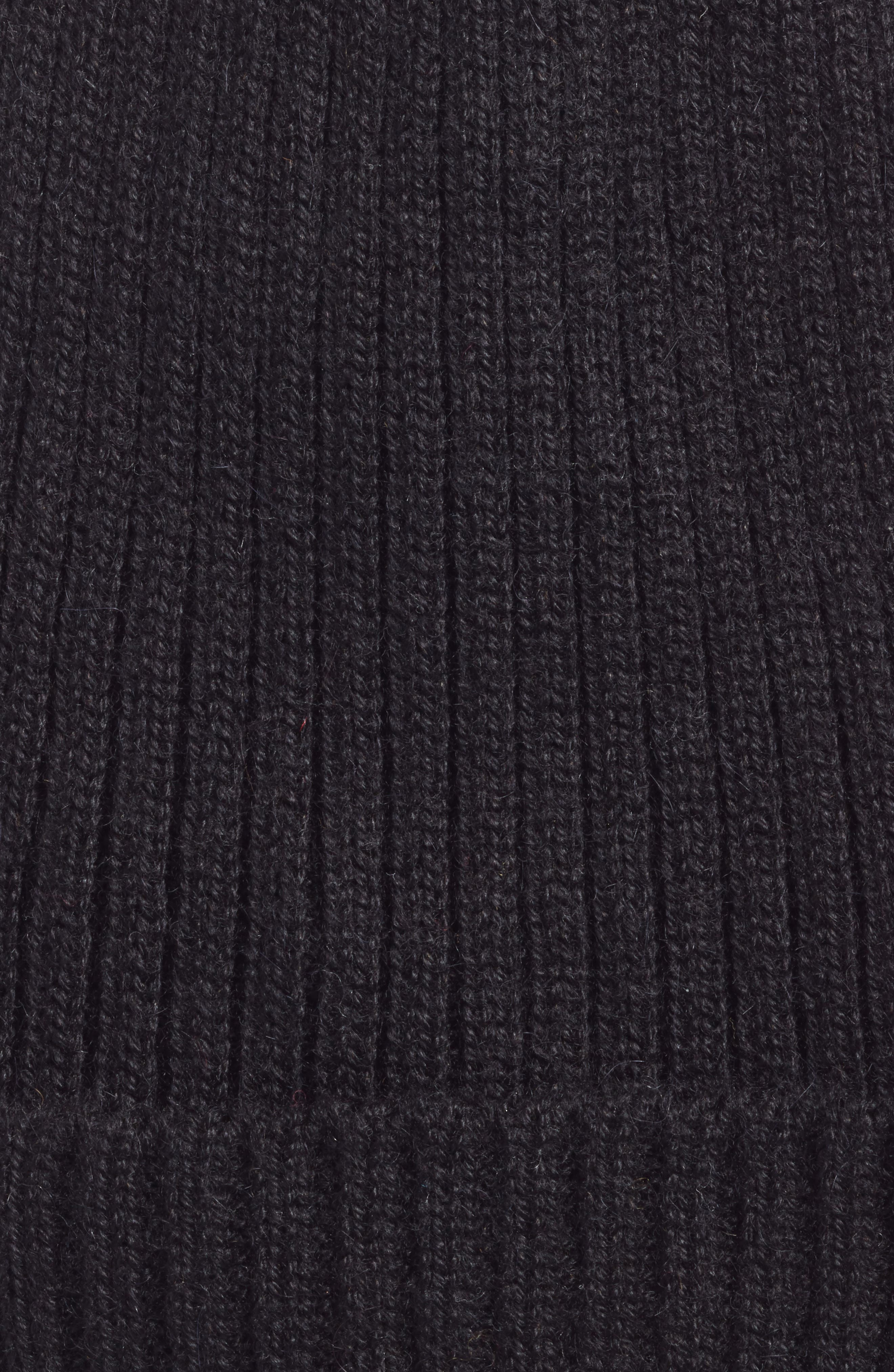 Nolita Alpaca Rib Knit Beanie,                             Alternate thumbnail 2, color,                             BLACK