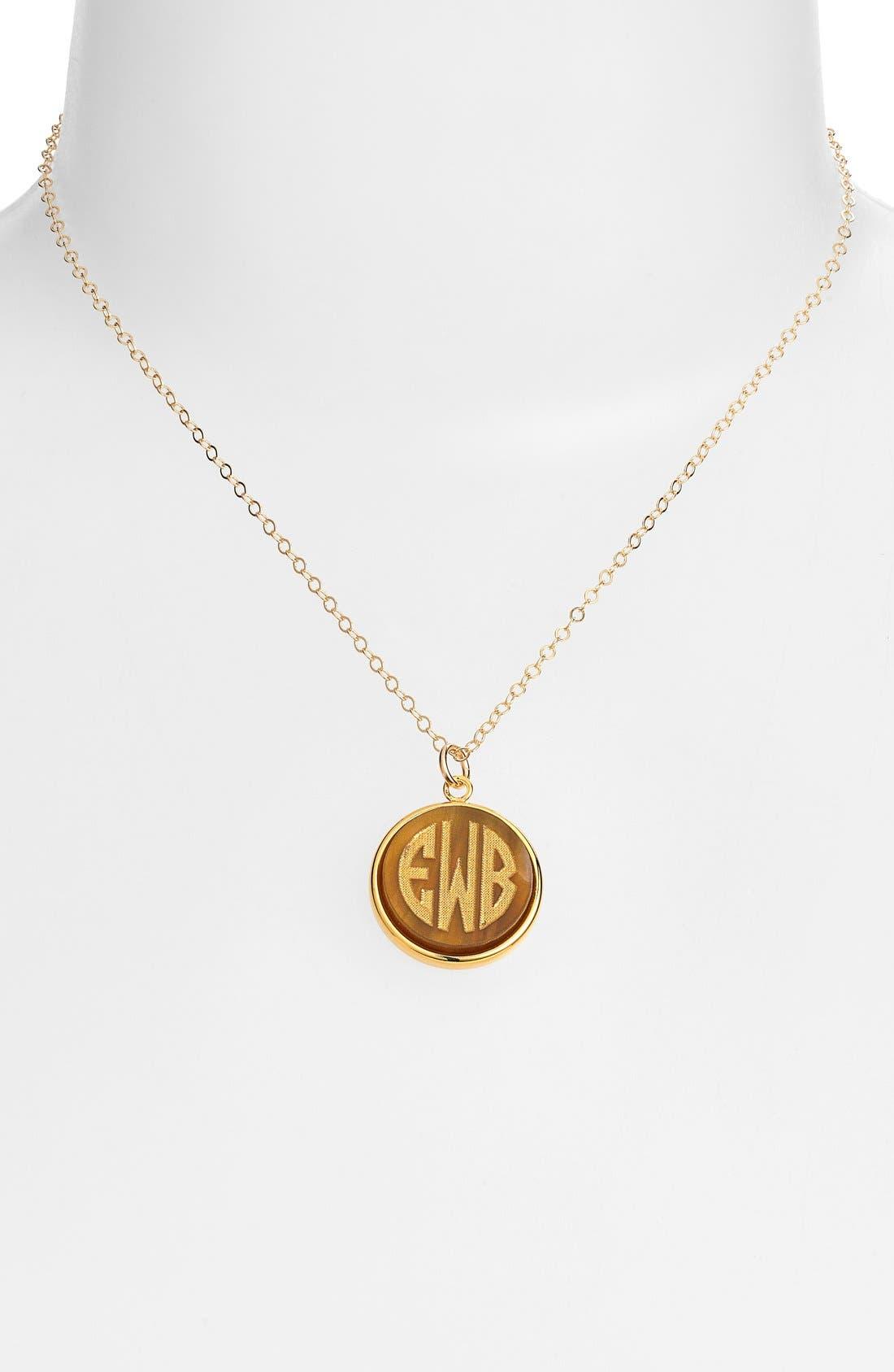 'Vineyard' Personalized Monogram Pendant Necklace,                             Alternate thumbnail 23, color,