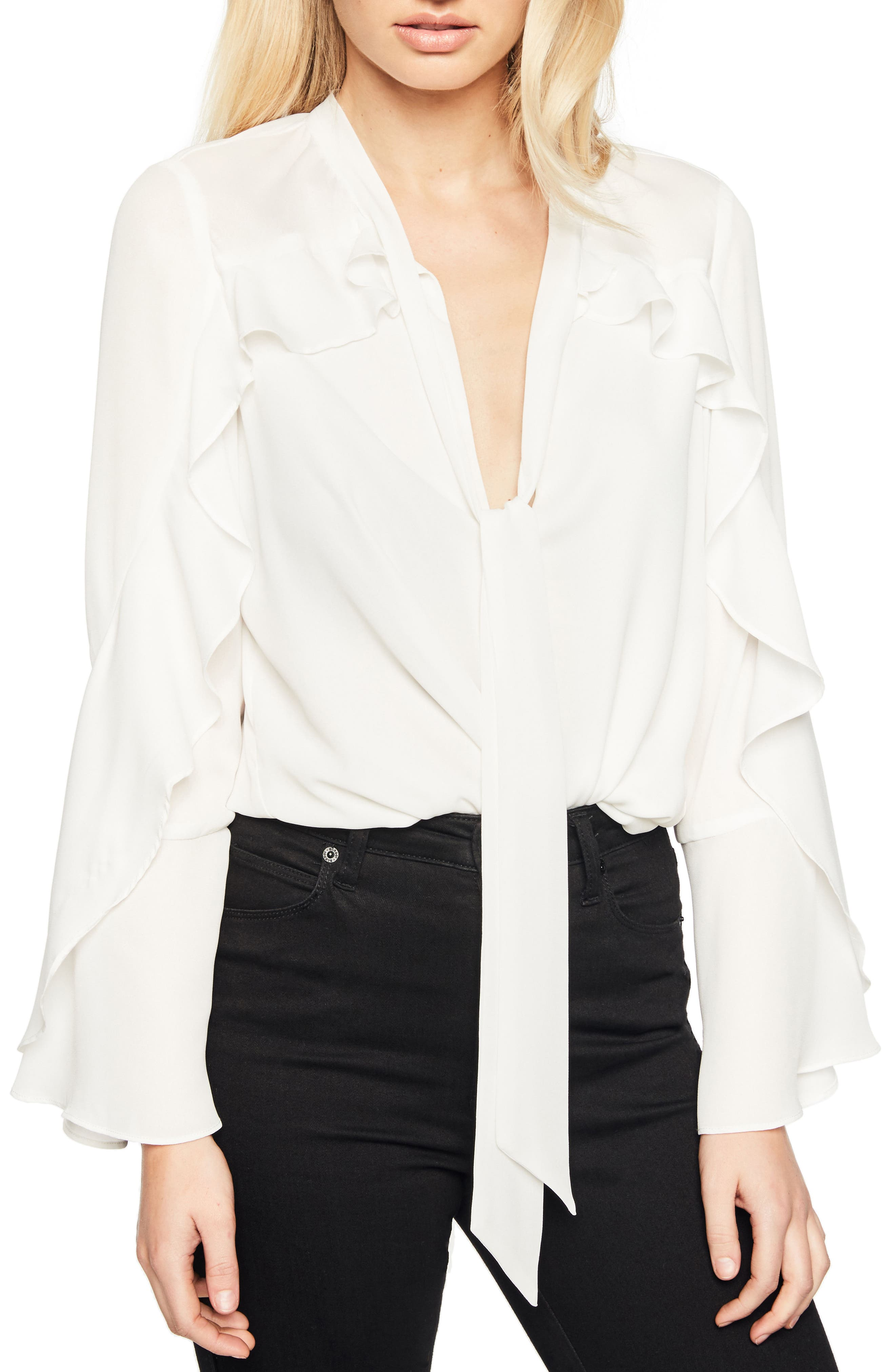 Bow Frill Top,                         Main,                         color,