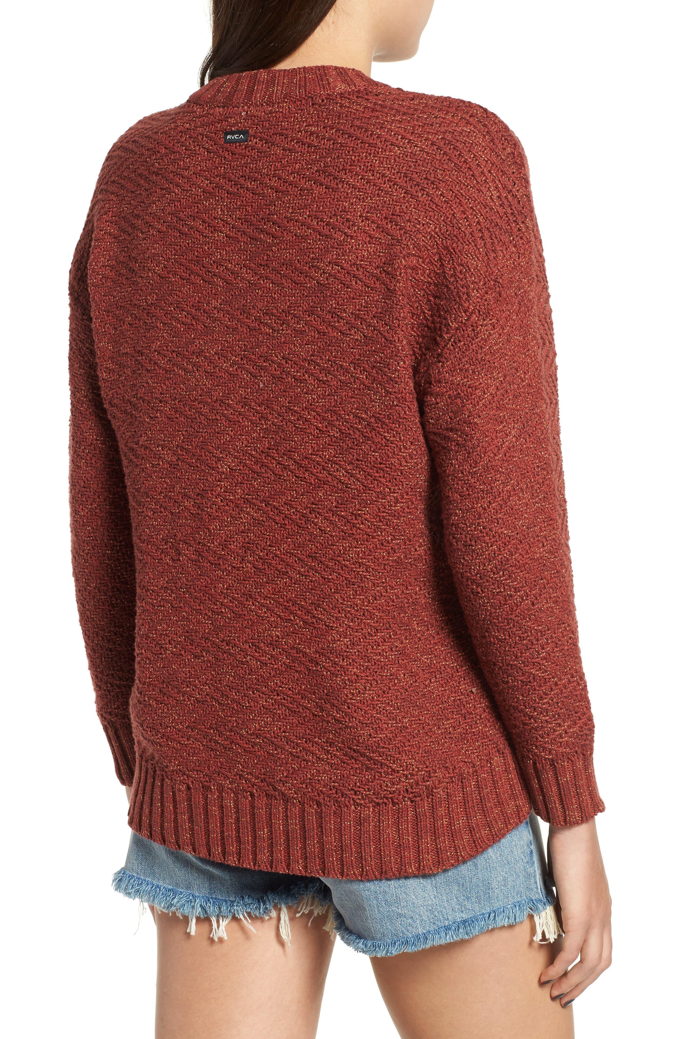 Zigged Sweater,                             Alternate thumbnail 2, color,                             HENNA
