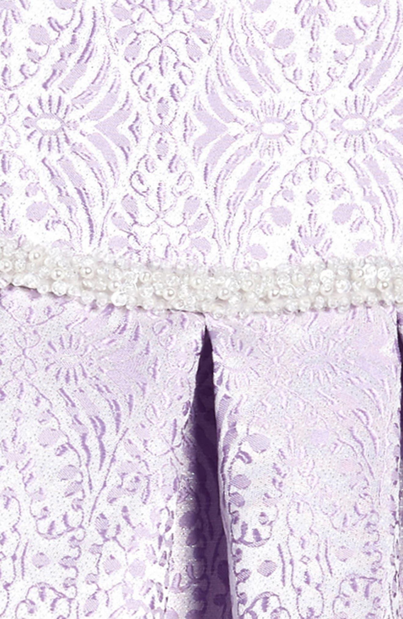 Jacquard Fit & Flare Dress,                             Alternate thumbnail 3, color,                             530