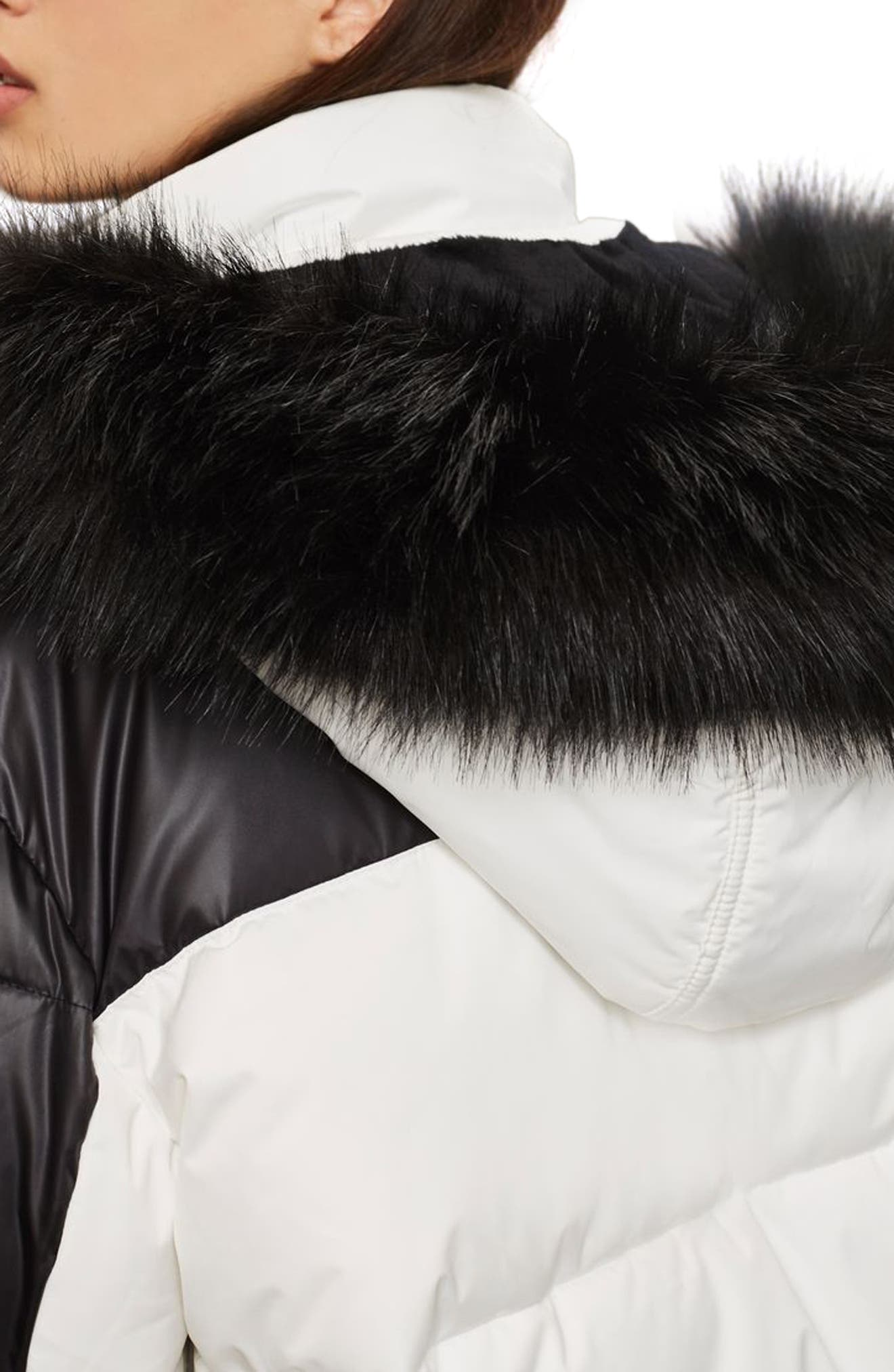 SNO Siren Ski Puffer Jacket,                             Alternate thumbnail 4, color,                             100