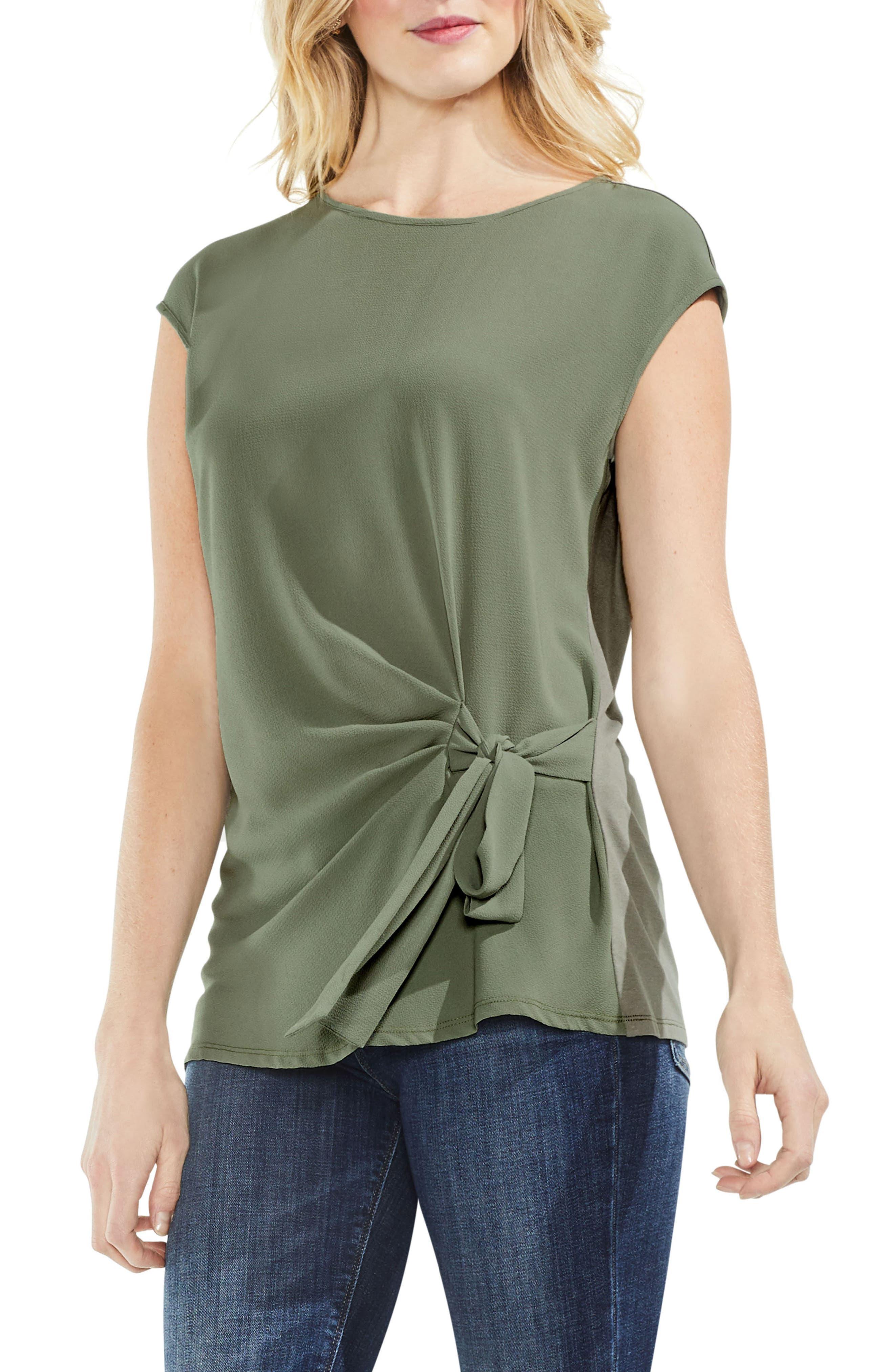 Tie Front Blouse,                         Main,                         color,