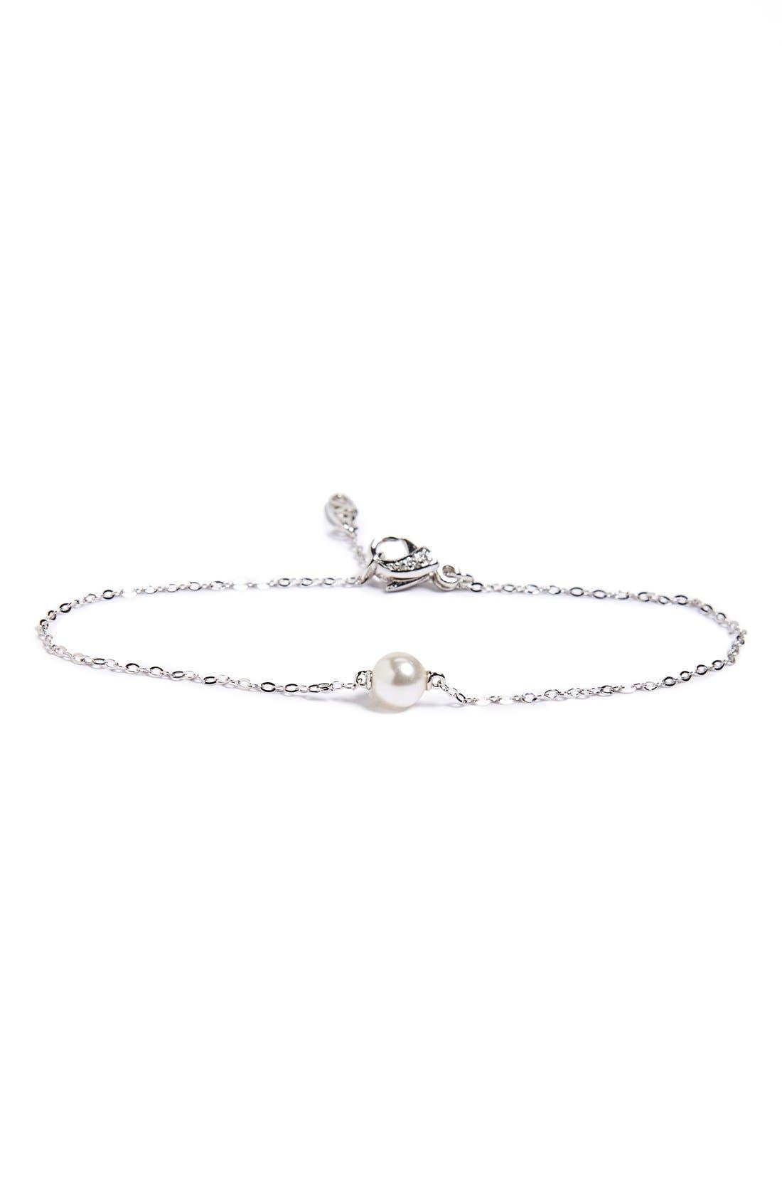 Faux Pearl Line Bracelet,                             Main thumbnail 1, color,                             040