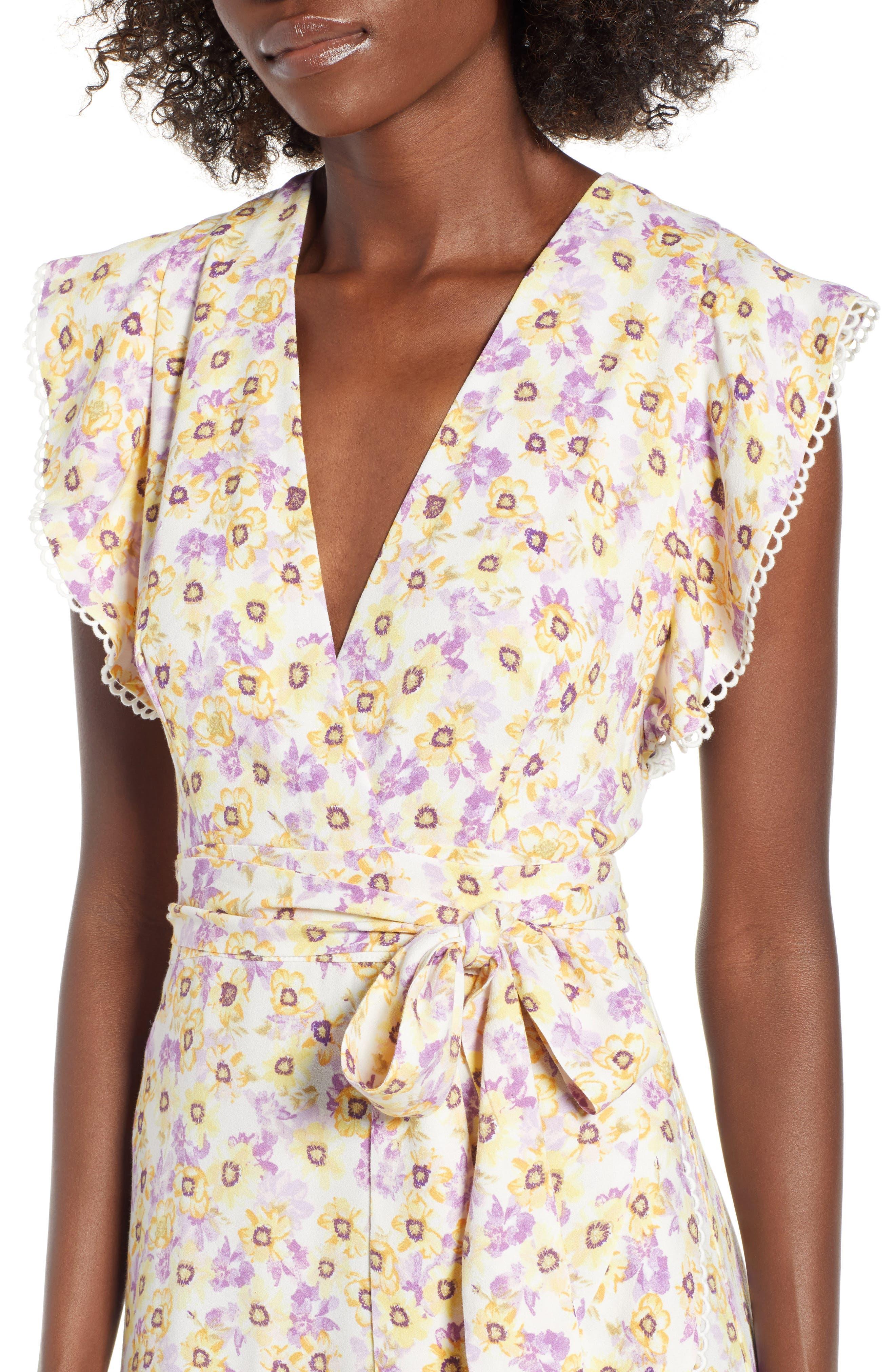 Andrea Ruffle Wrap Dress,                             Alternate thumbnail 12, color,