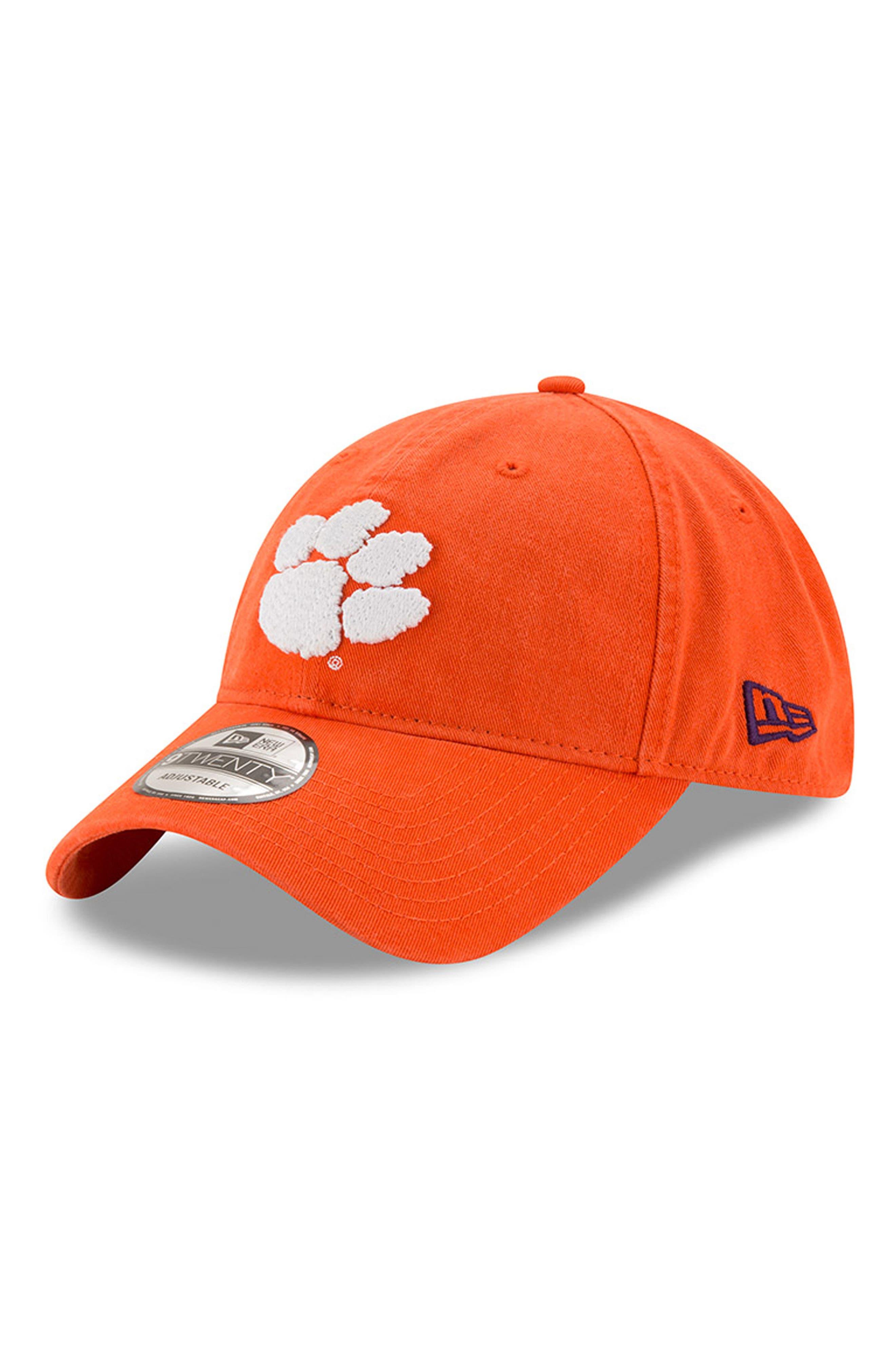 New Era Collegiate Core Classic - Clemson Tigers Baseball Cap,                             Main thumbnail 1, color,