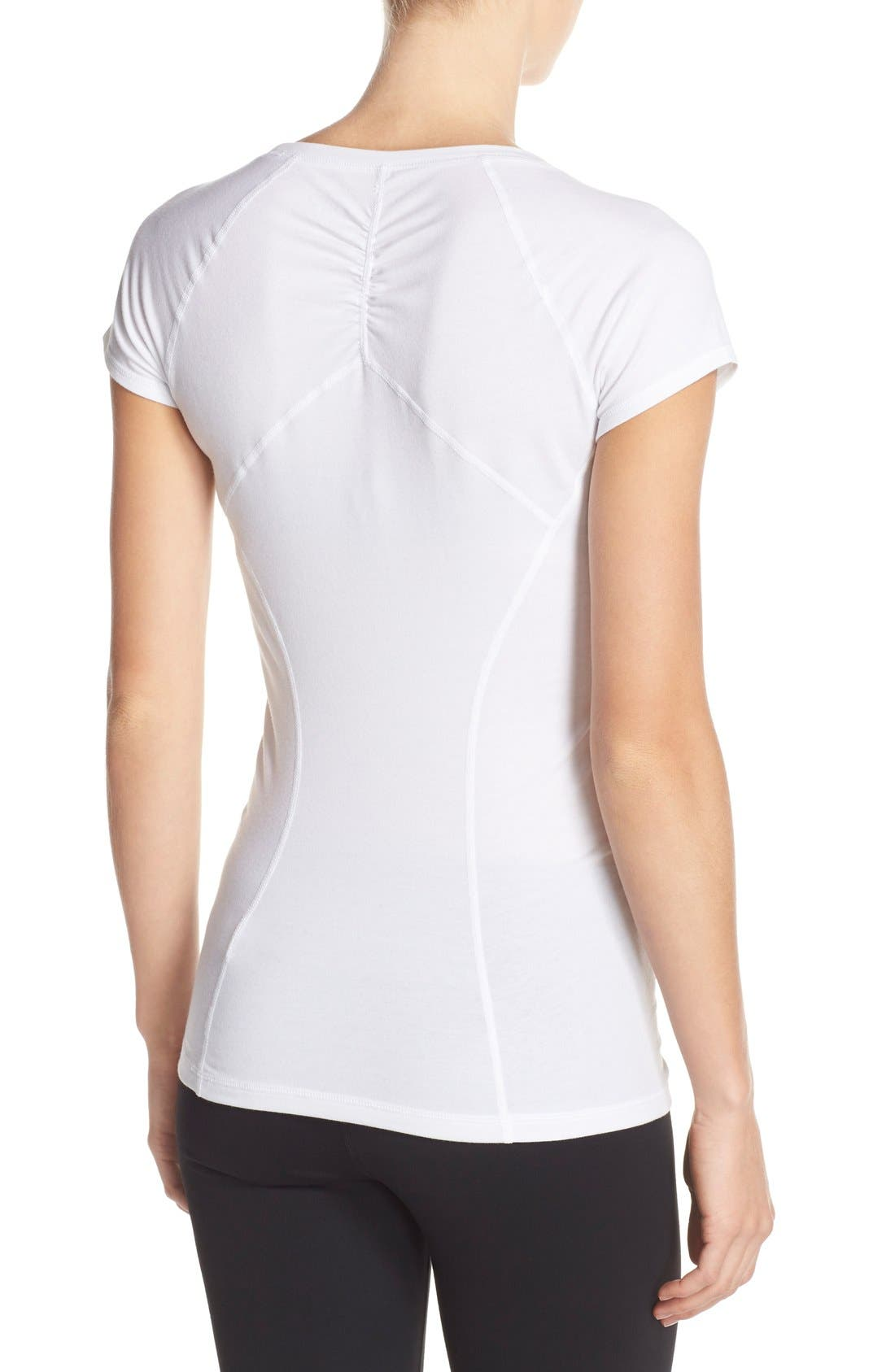 'Z 6' Ruched Tee,                             Alternate thumbnail 63, color,