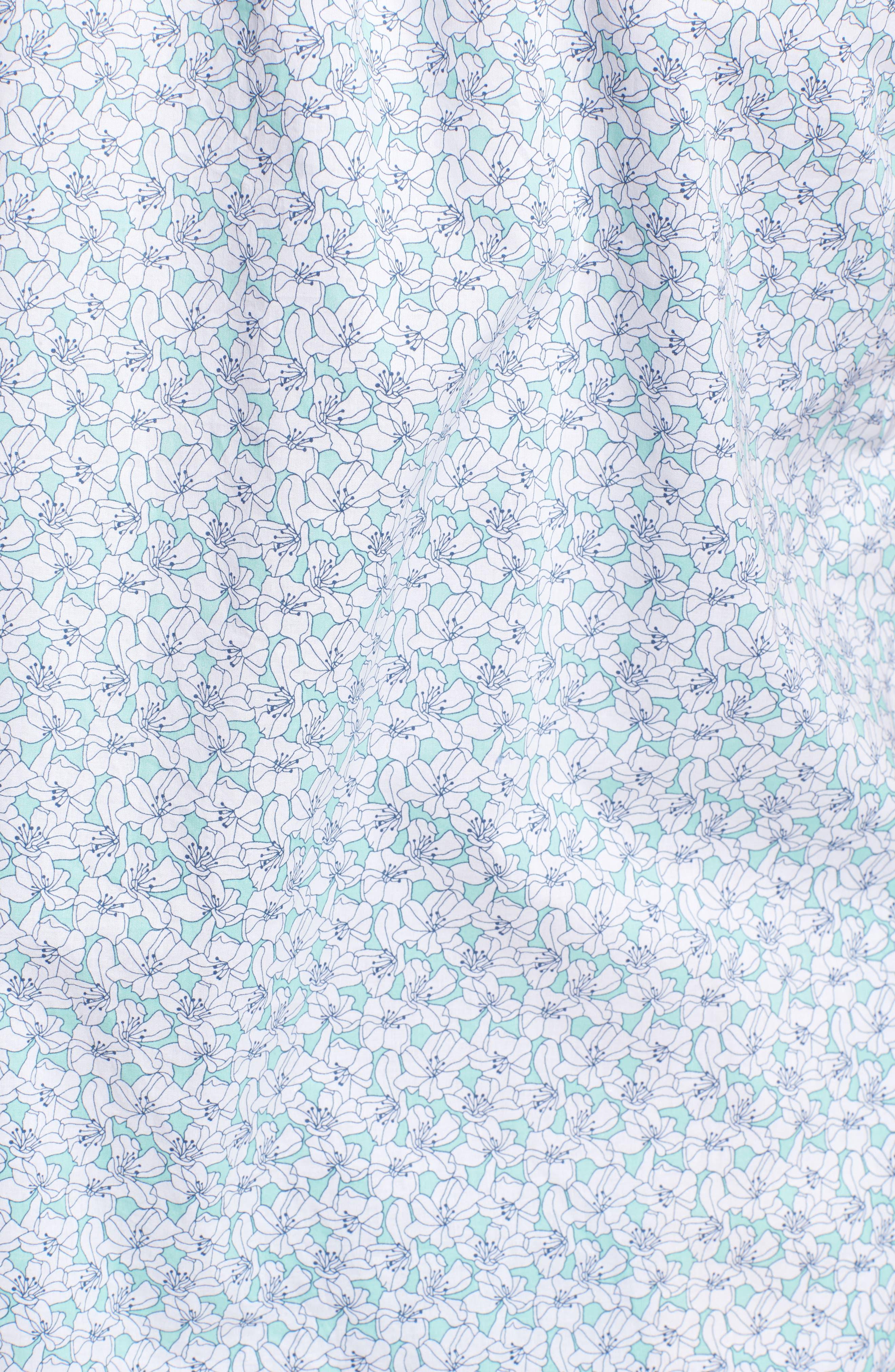 Slim Flit Floral Woven Shirt,                             Alternate thumbnail 5, color,                             332