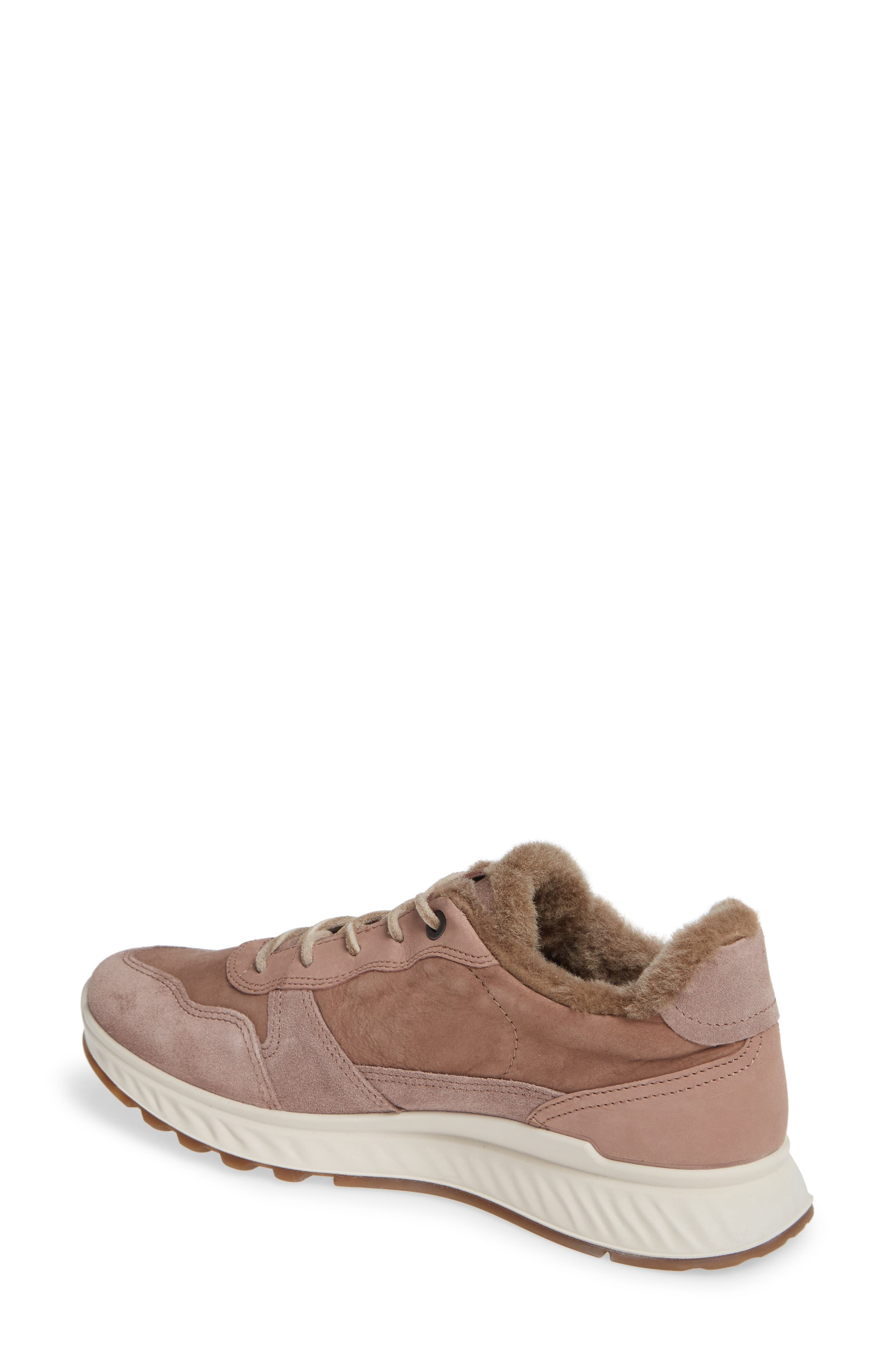 ST1 Genuine Shearling Sneaker,                             Alternate thumbnail 2, color,                             DEEP TAUPE NUBUCK LEATHER