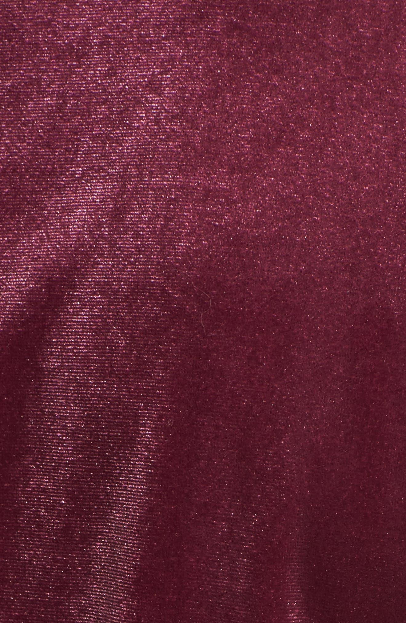 Flutter Sleeve Velvet Top,                             Alternate thumbnail 20, color,