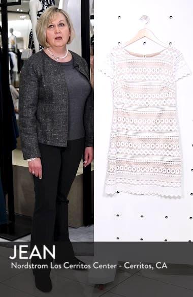 Geo Lace Sheath Dress, sales video thumbnail