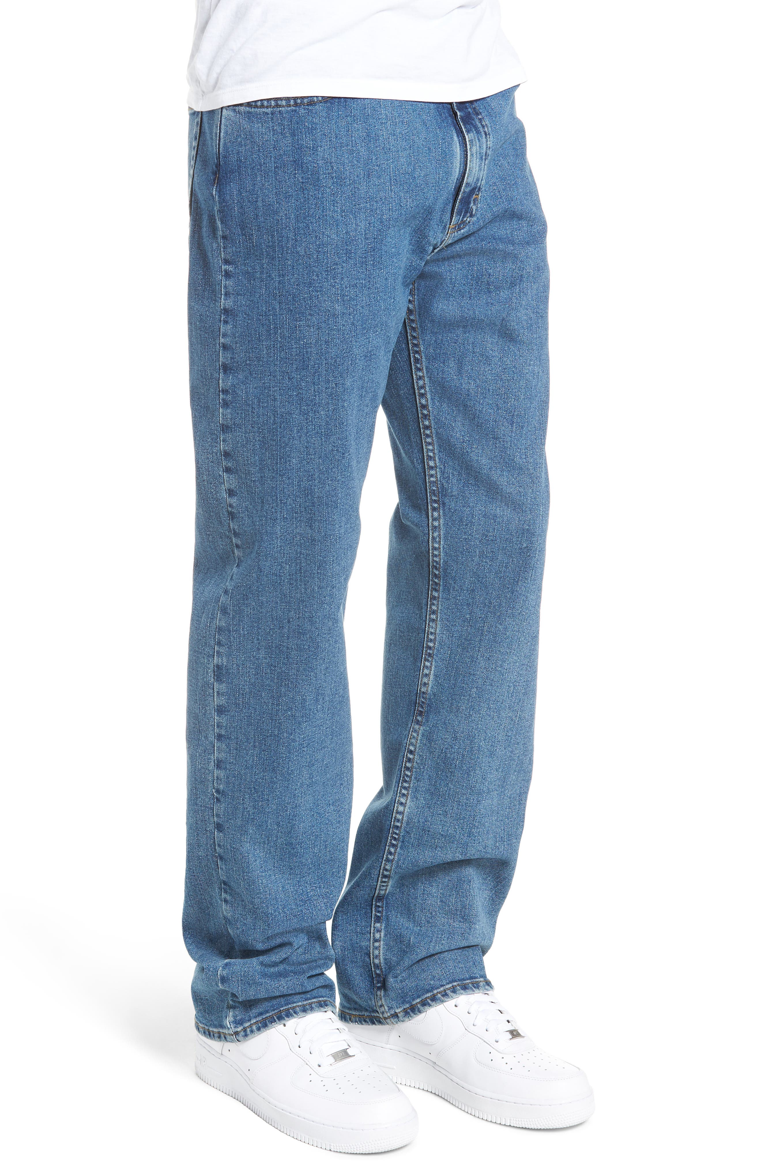 V96 Relaxed Fit Jeans,                             Alternate thumbnail 3, color,                             STONE WASH