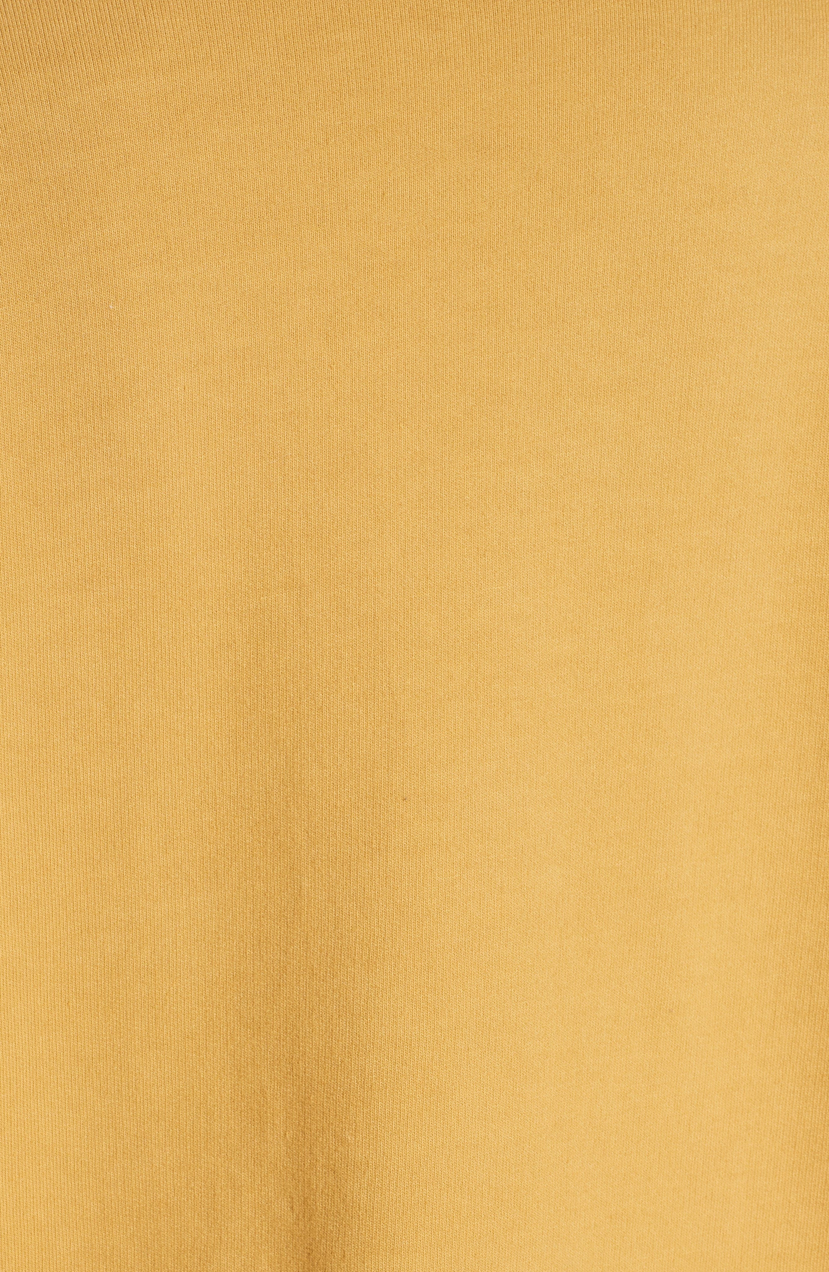 Bow Colorblock Sweatshirt,                             Alternate thumbnail 5, color,                             MUSTARD/ WHITE