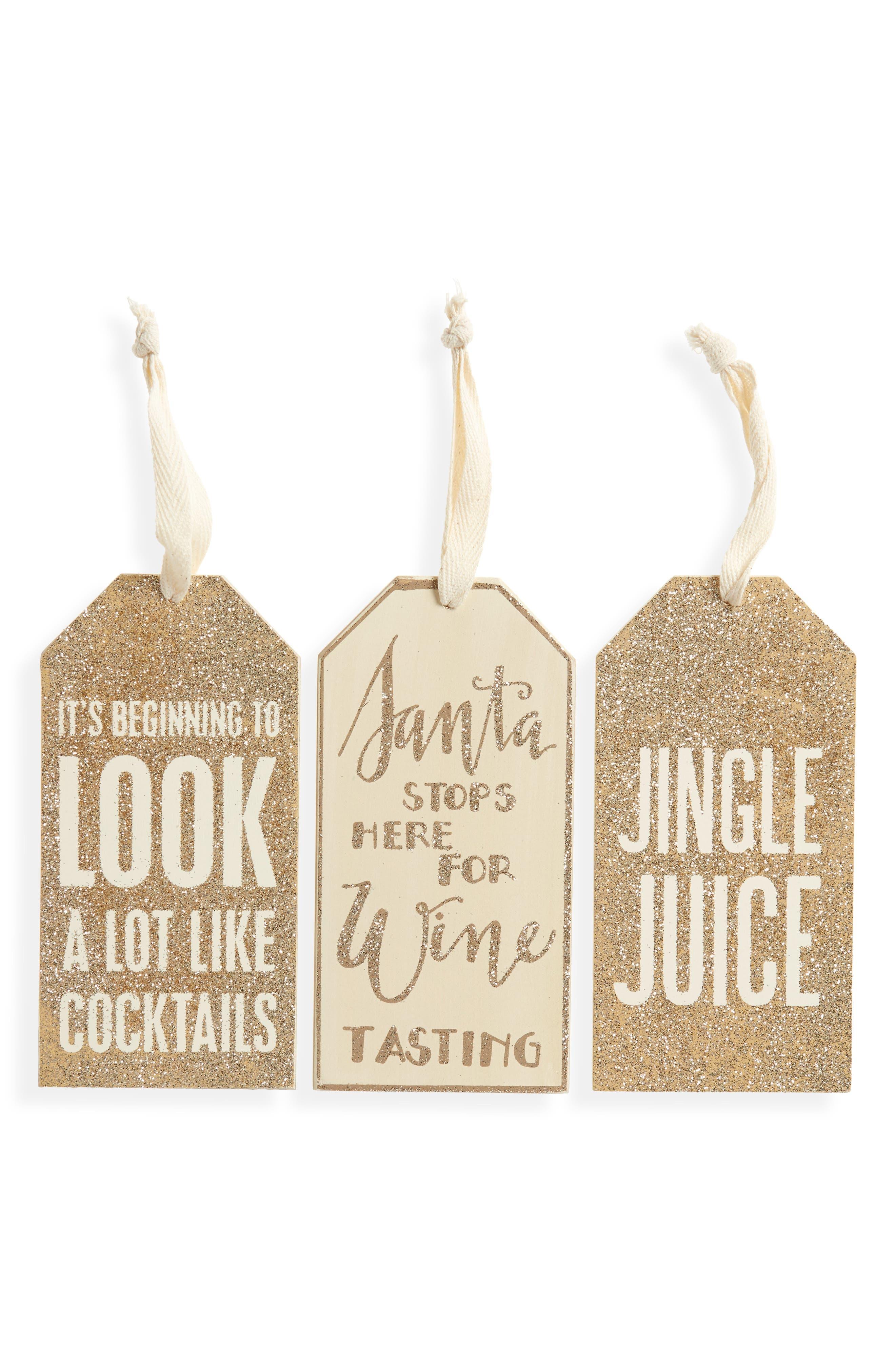 Set of 3 Christmas Bottle Tags,                             Main thumbnail 1, color,                             040