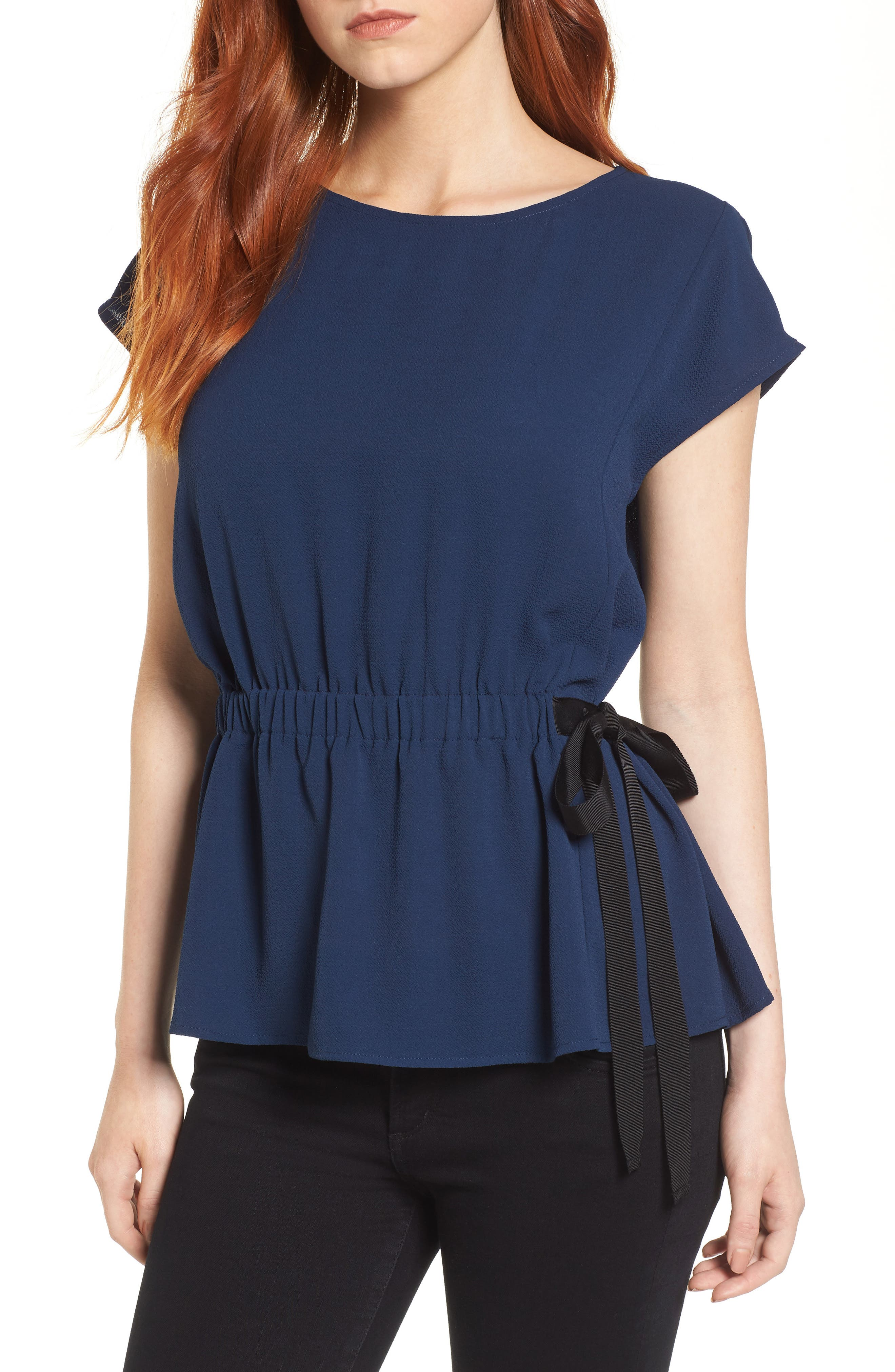 Gathered Waist Side Tie Top,                             Main thumbnail 3, color,