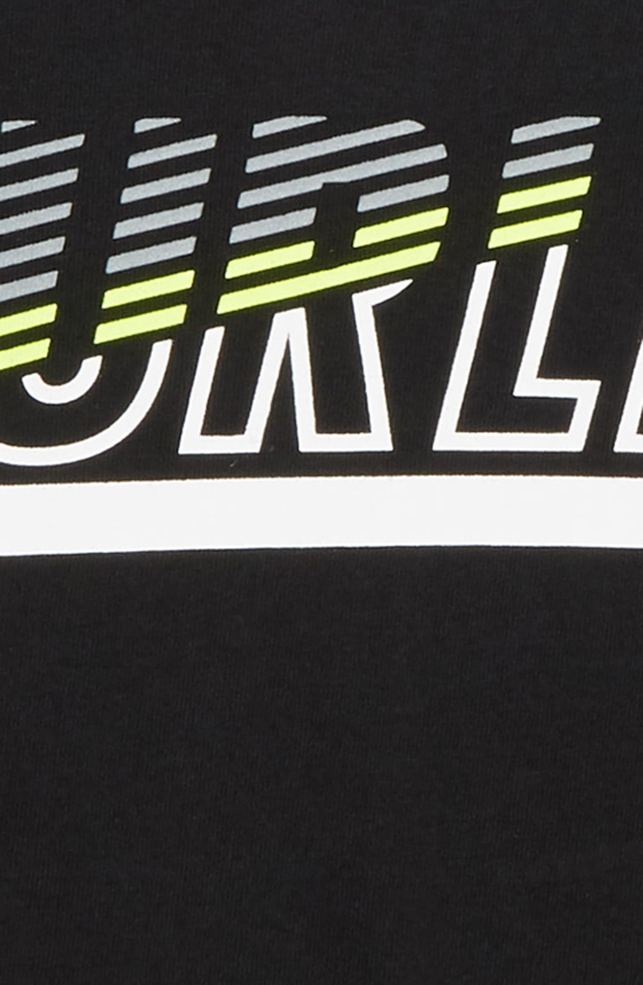 Launch Graphic T-Shirt,                             Alternate thumbnail 2, color,                             BLACK/ GREEN