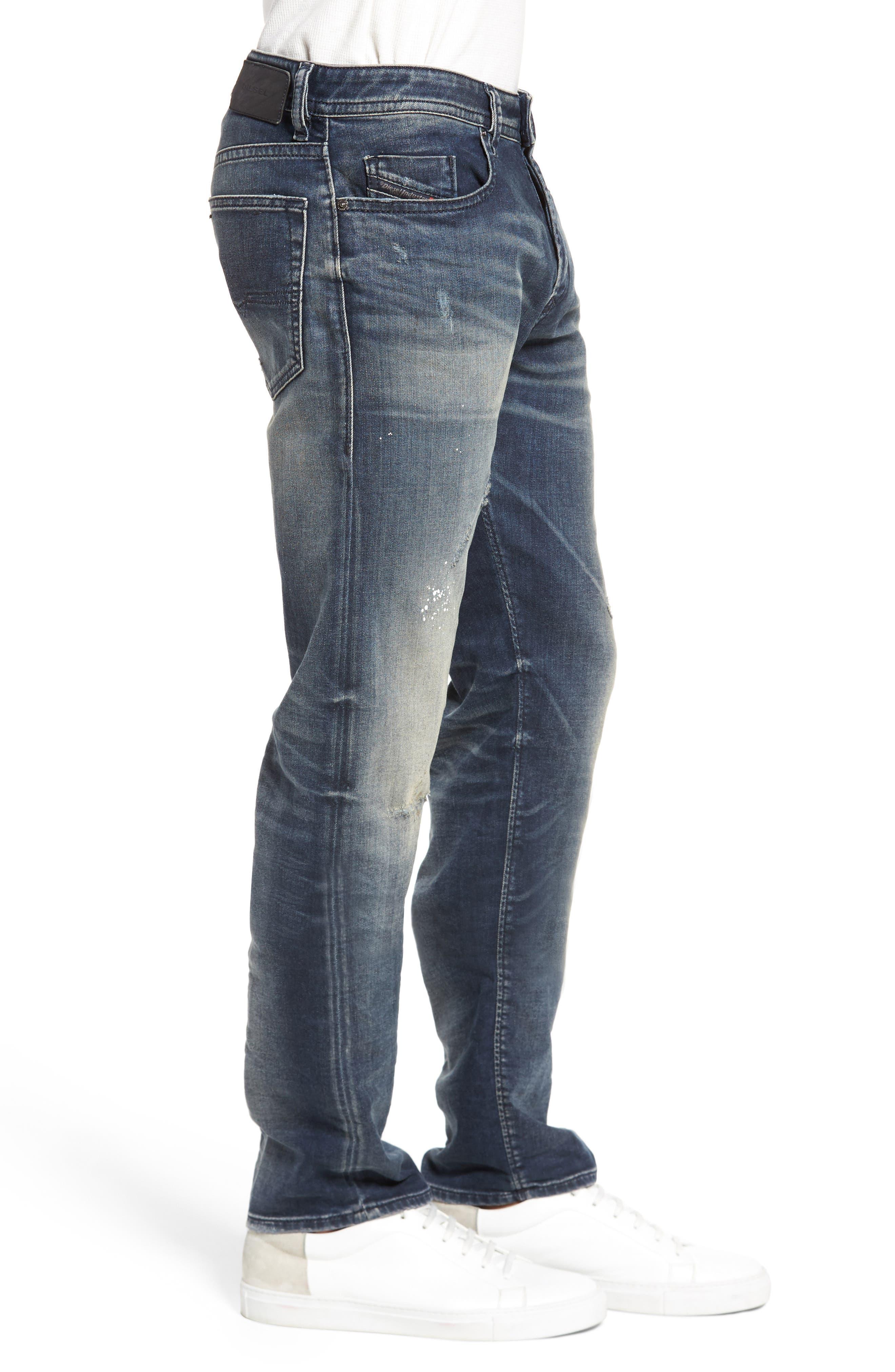 Buster Slim Straight Leg Jeans,                             Alternate thumbnail 3, color,                             400