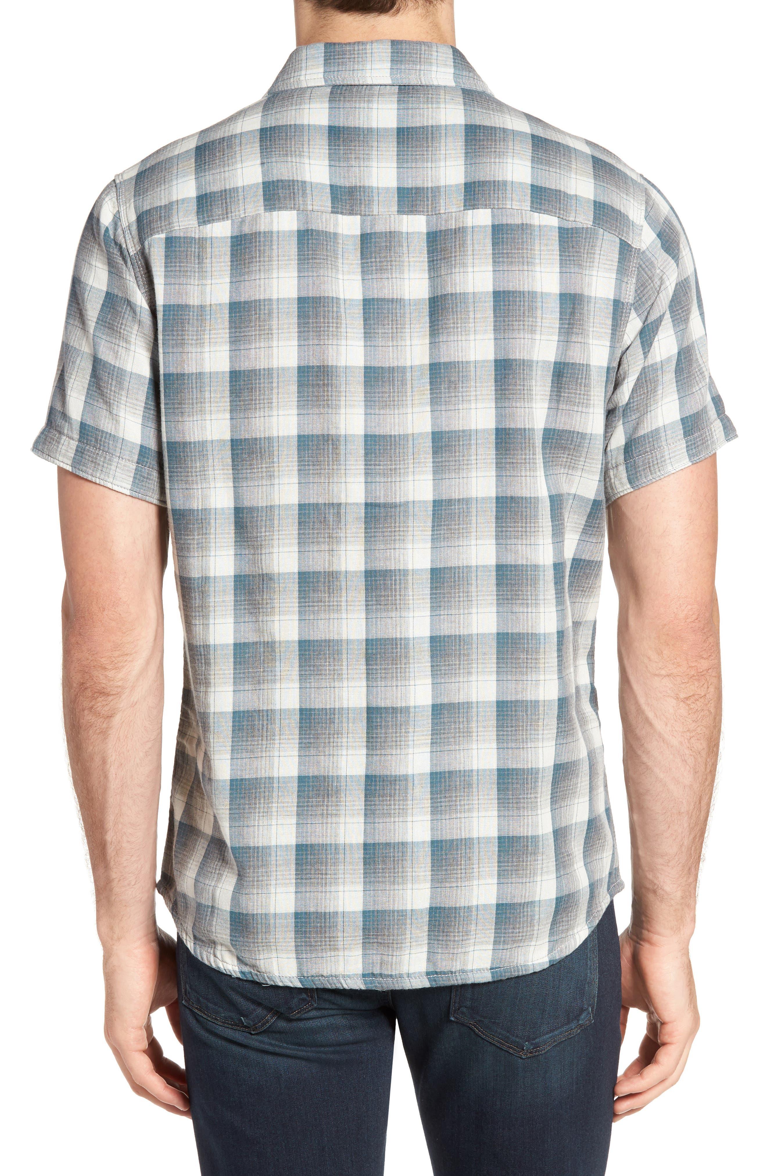 Clark Regular Fit Reversible Plaid Sport Shirt,                             Alternate thumbnail 2, color,                             406