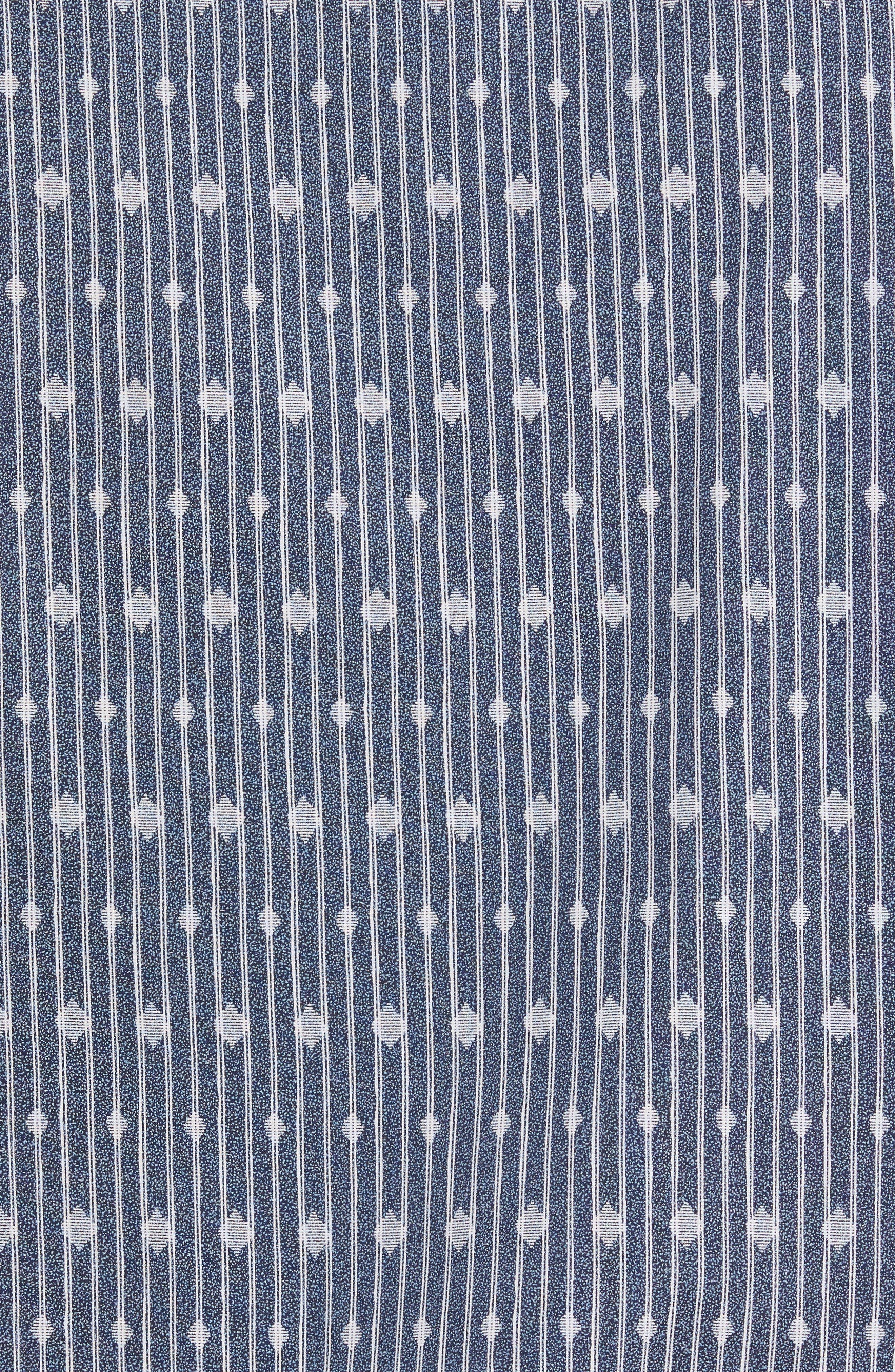 Shaped Fit Diamond Stripe Print Sport Shirt,                             Alternate thumbnail 5, color,                             423