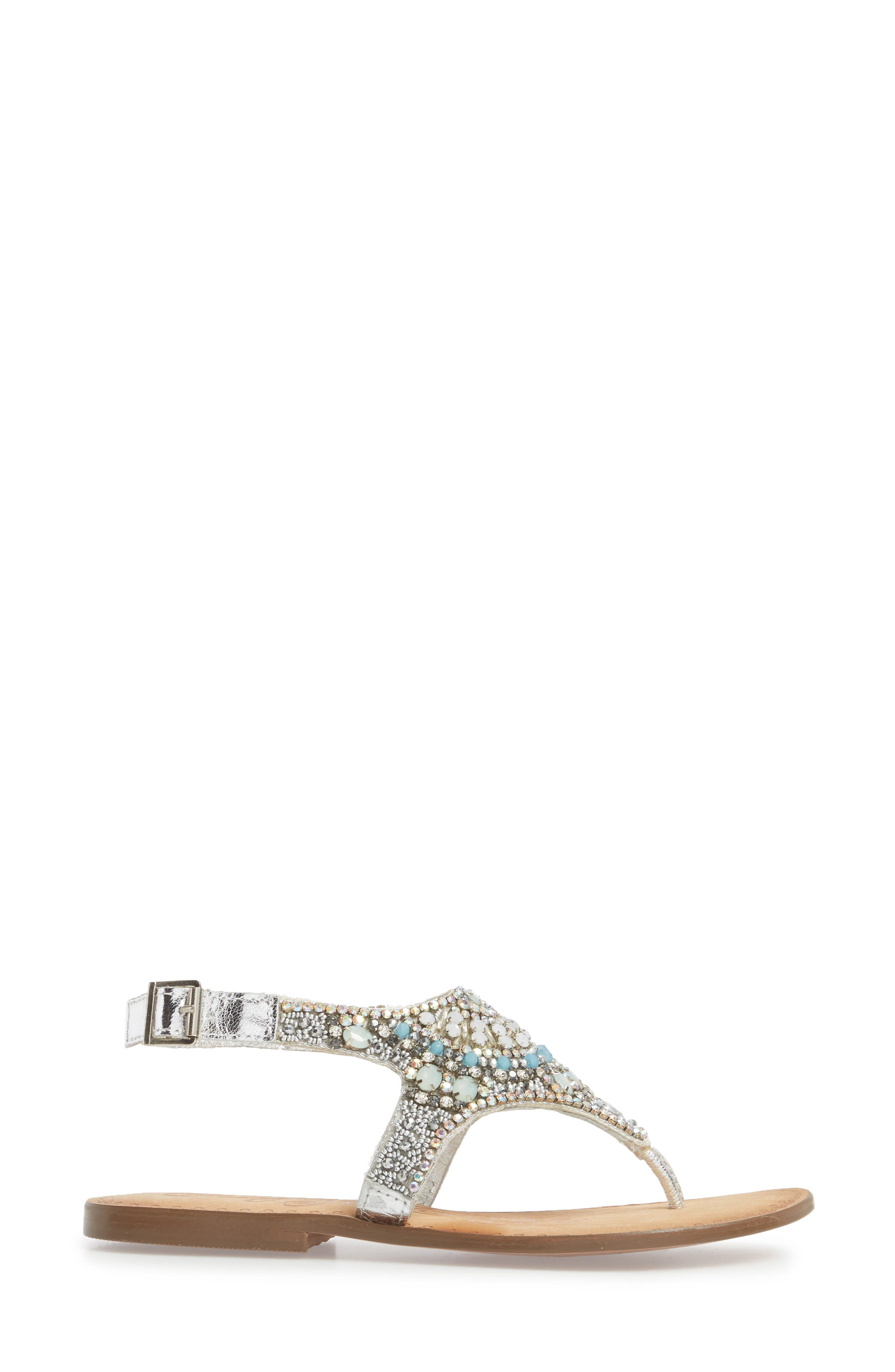 Iceberg Crystal Embellished Sandal,                             Alternate thumbnail 3, color,                             040