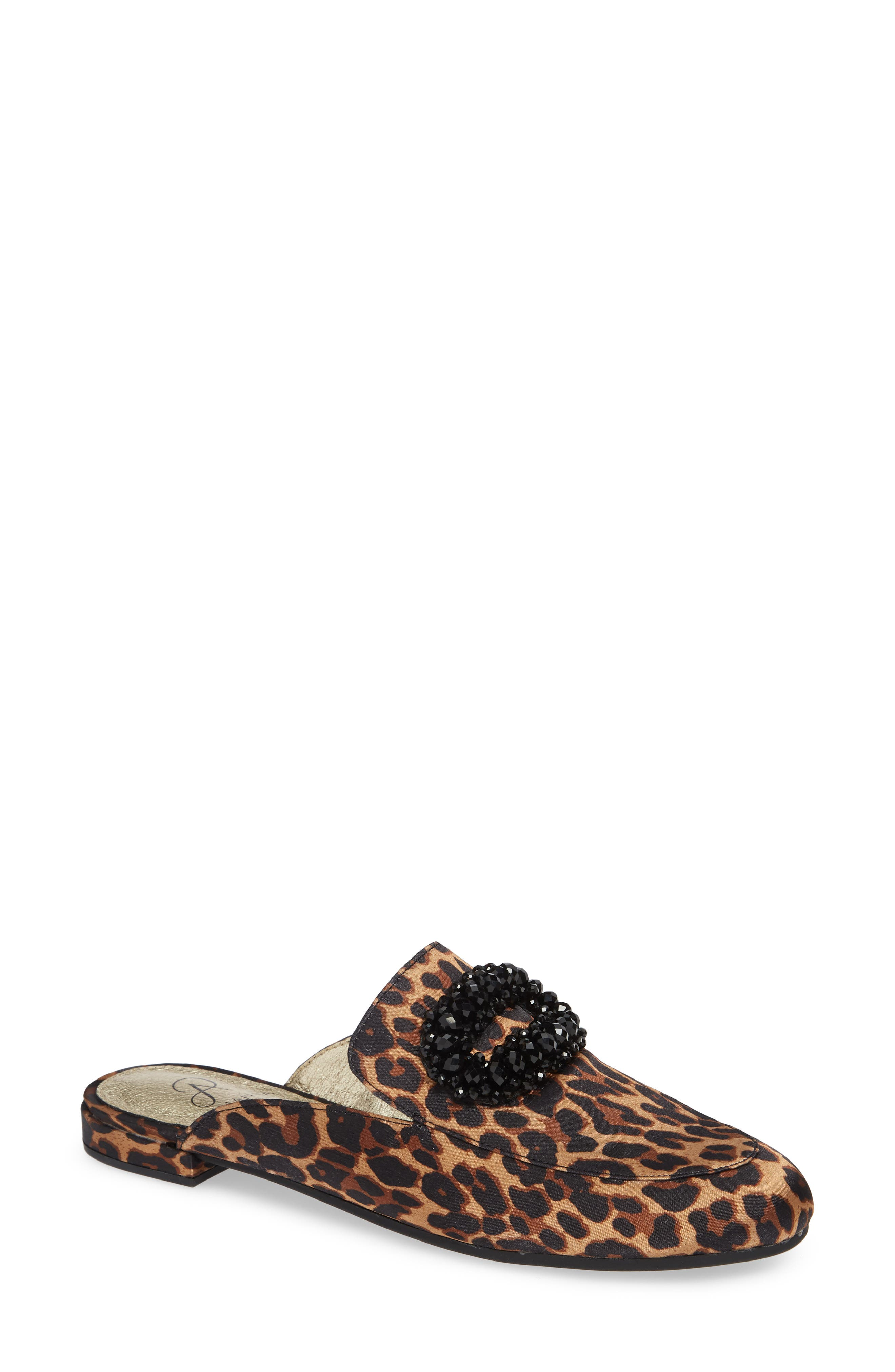 ADRIANNA PAPELL Becky Embellished Mule, Main, color, LEOPARD