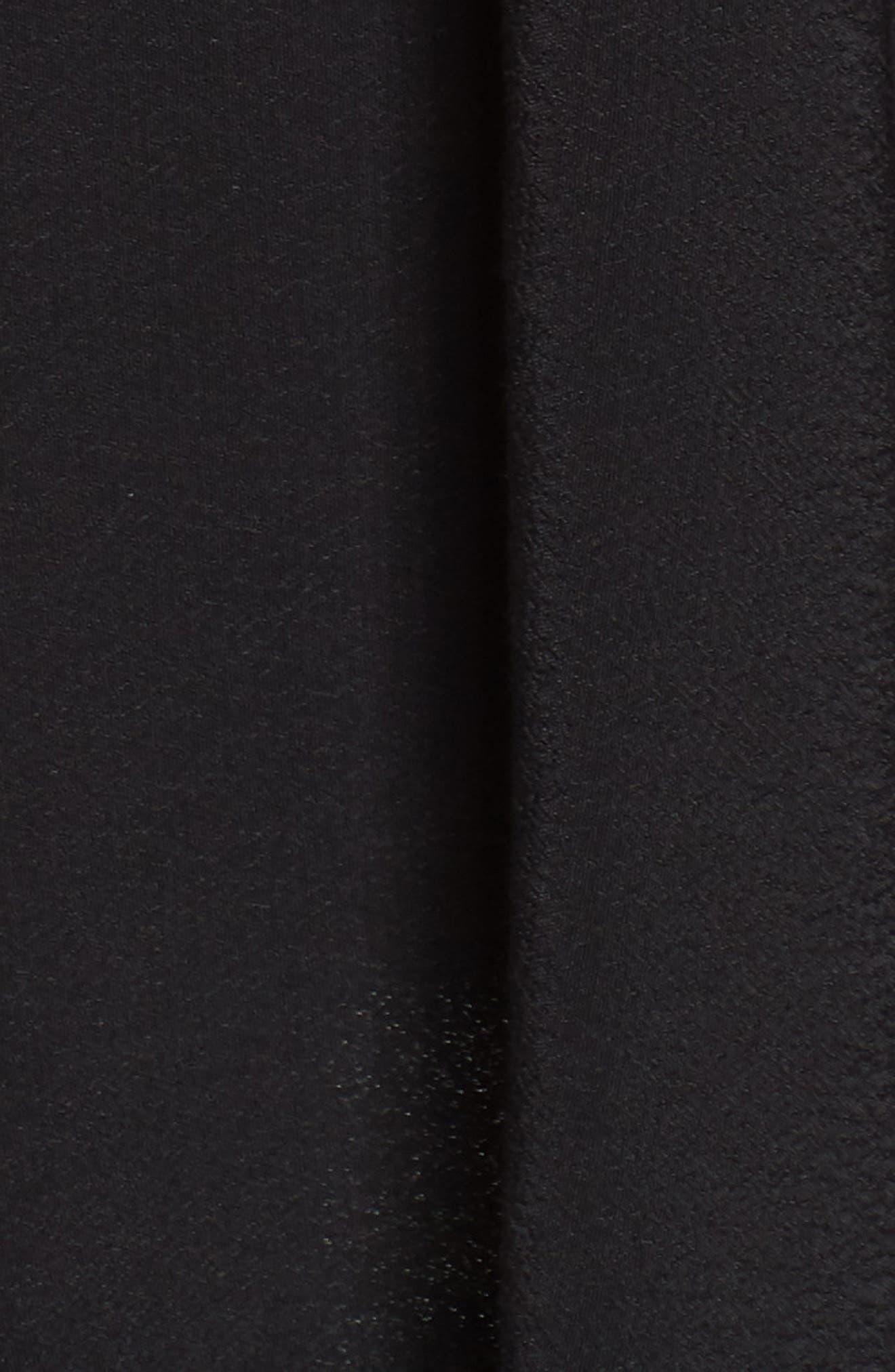 Embroidered Babydoll Dress,                             Alternate thumbnail 6, color,                             BLACK