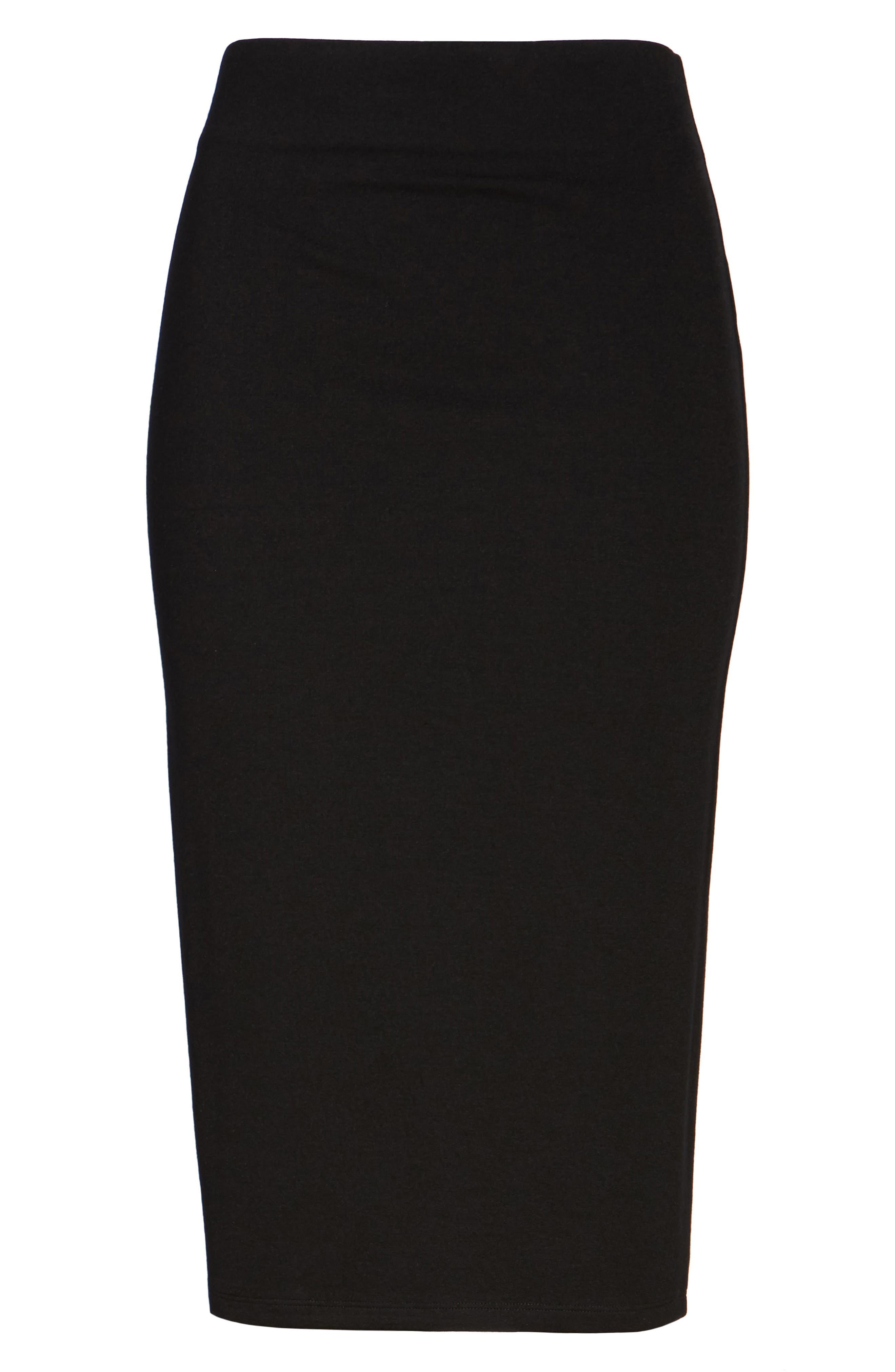 Ponte Skirt,                             Alternate thumbnail 6, color,                             001