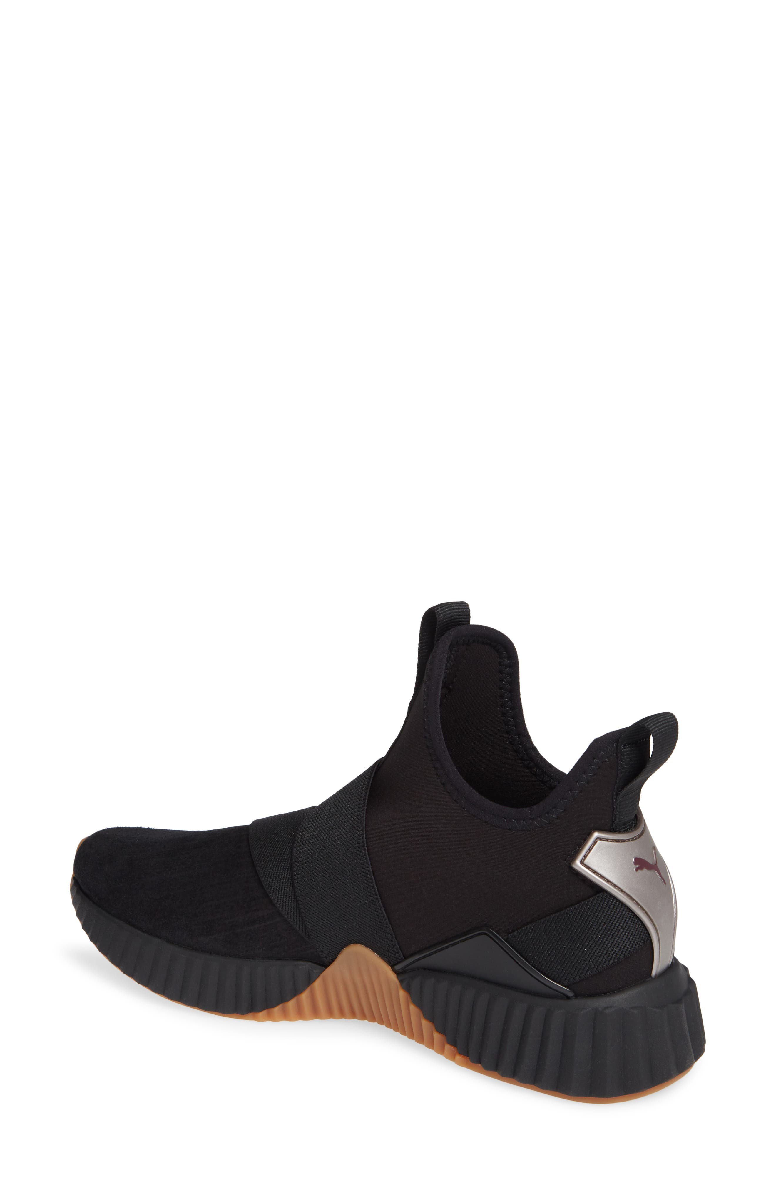 Defy Mid Luxe Sneaker,                             Alternate thumbnail 2, color,                             PUMA BLACK/ FIG