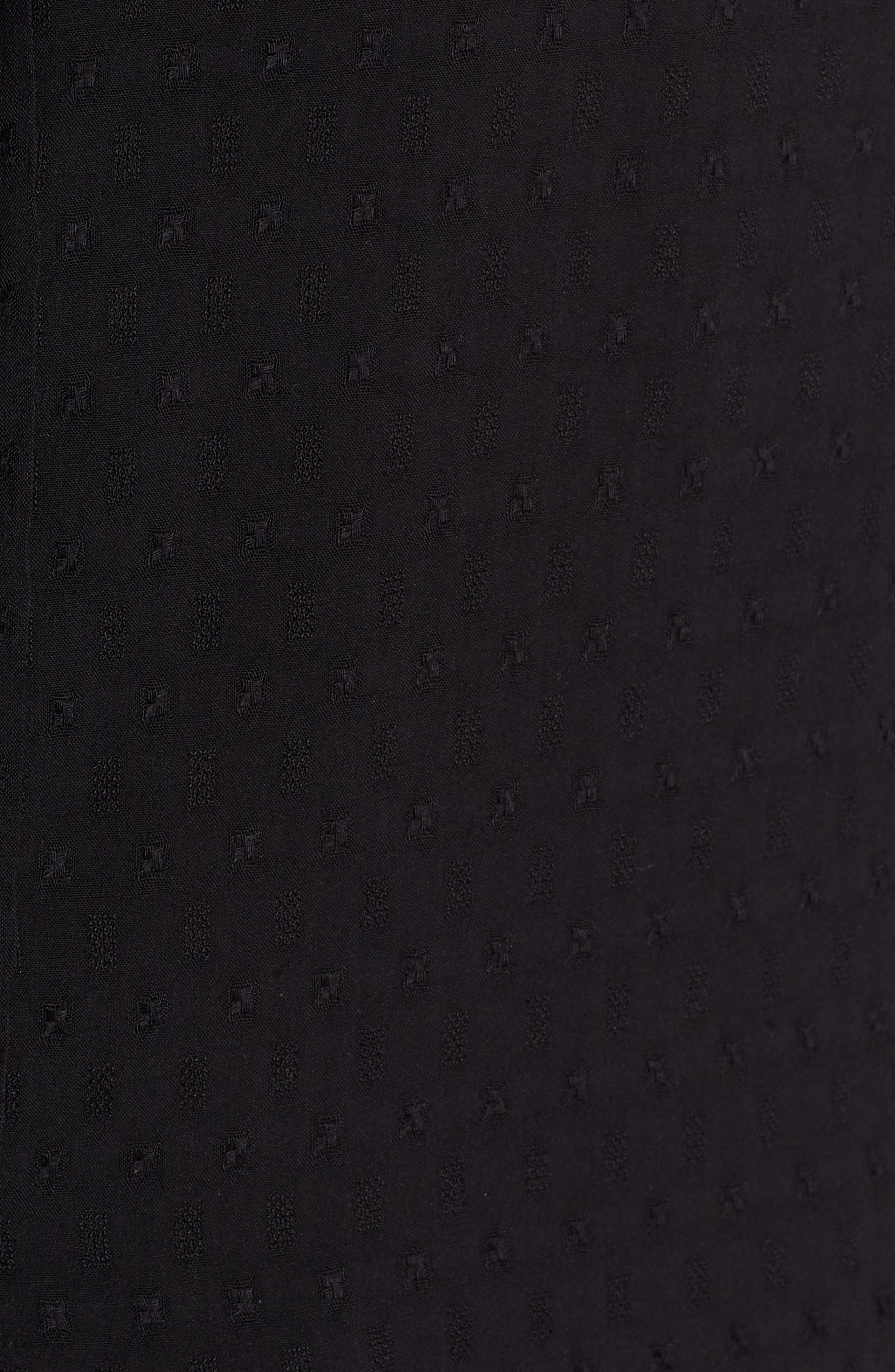 Dobby Tunic Top,                             Alternate thumbnail 5, color,                             BLACK