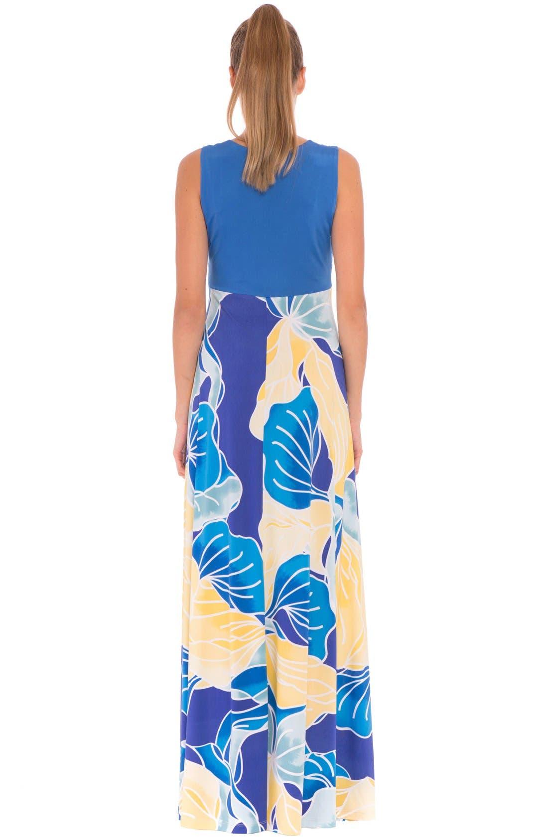 'Sharon' Maternity Maxi Dress,                             Alternate thumbnail 2, color,                             AQUA