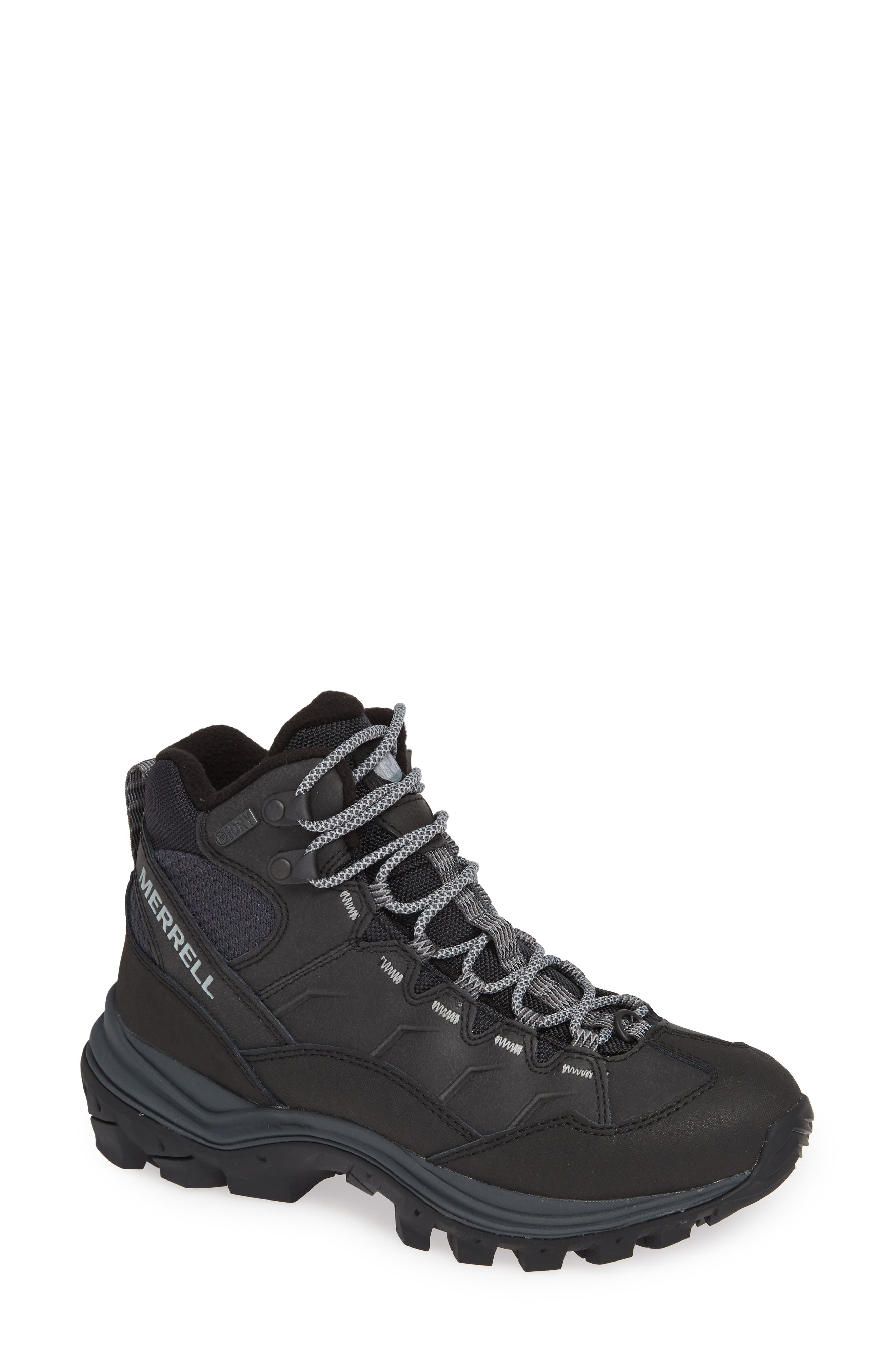 Thermo Chill Waterproof Snow Boot,                             Main thumbnail 1, color,                             BLACK LEATHER