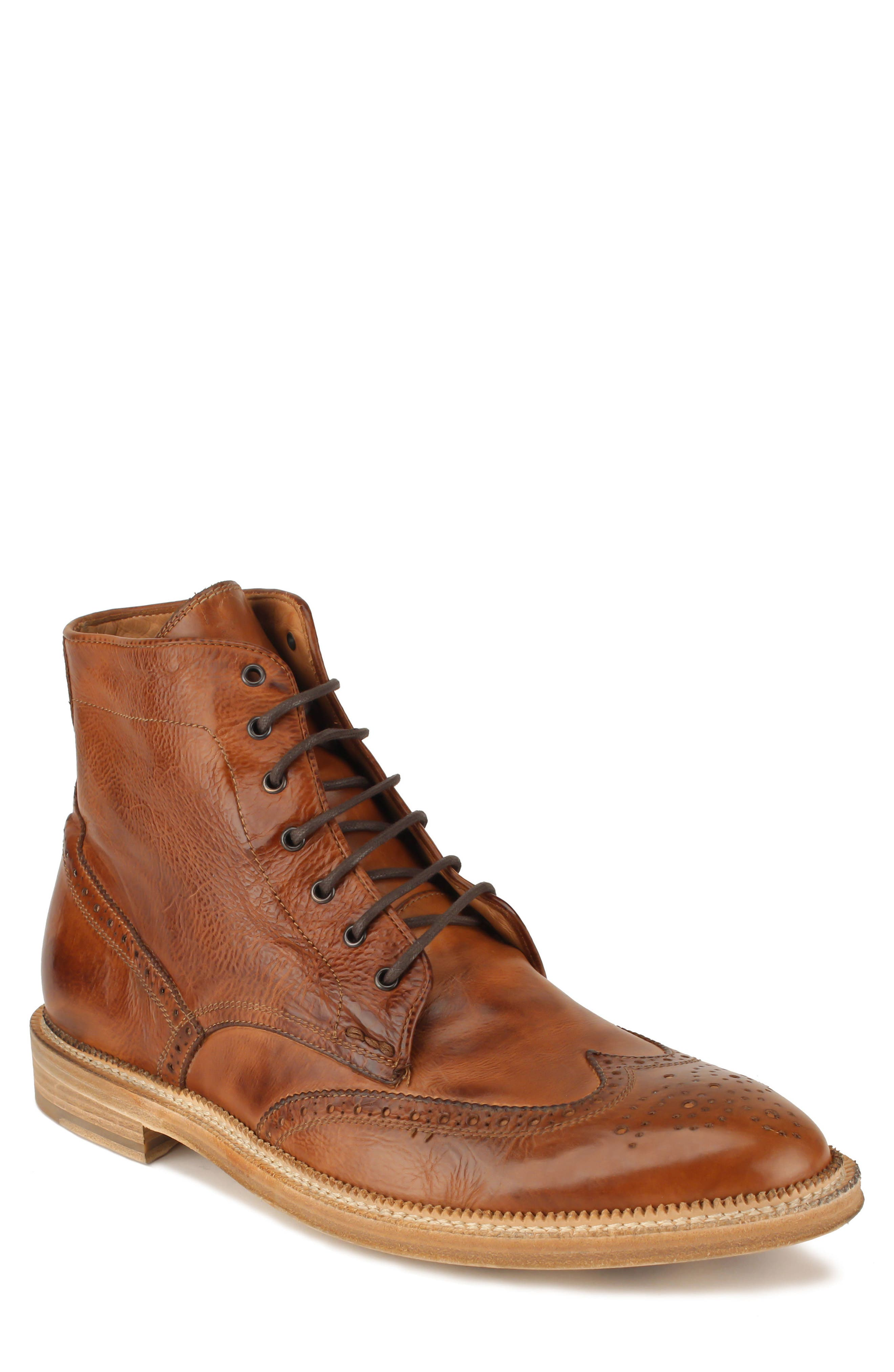 Max Wingtip Boot,                             Main thumbnail 1, color,                             WALNUT LEATHER