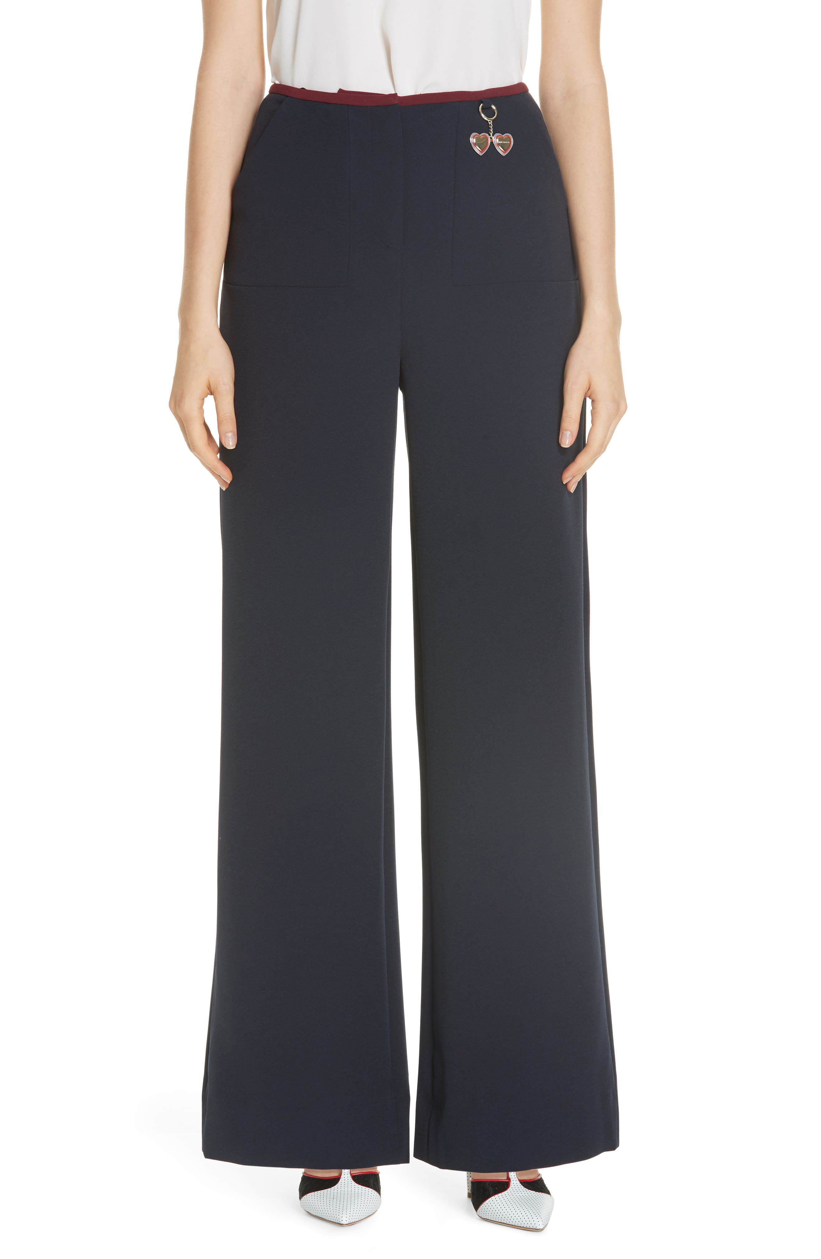 Colour By Numbers Zuleka Wide-Leg Pants in Navy