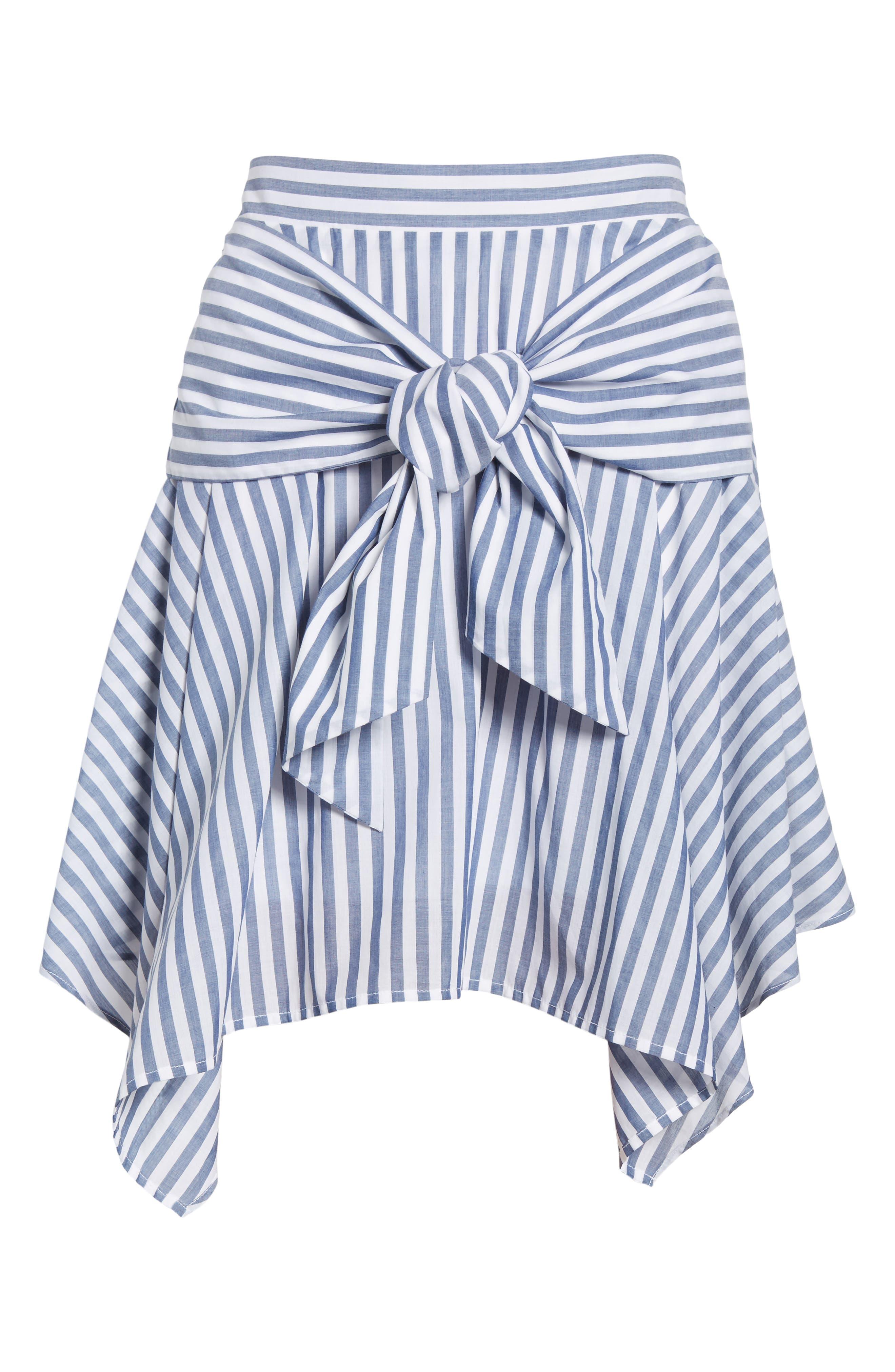 BP.,                             Tie Waist Handkerchief Hem Skirt,                             Alternate thumbnail 6, color,                             410